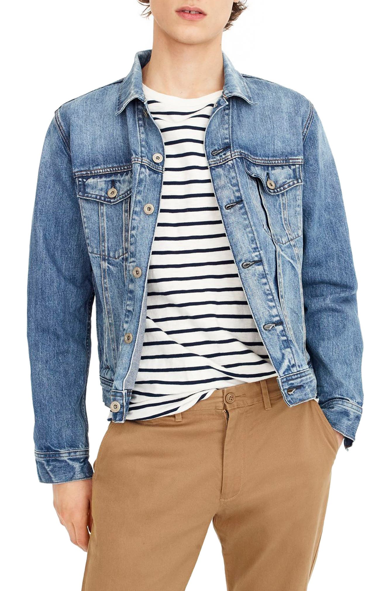 Denim Jacket,                         Main,                         color, 404
