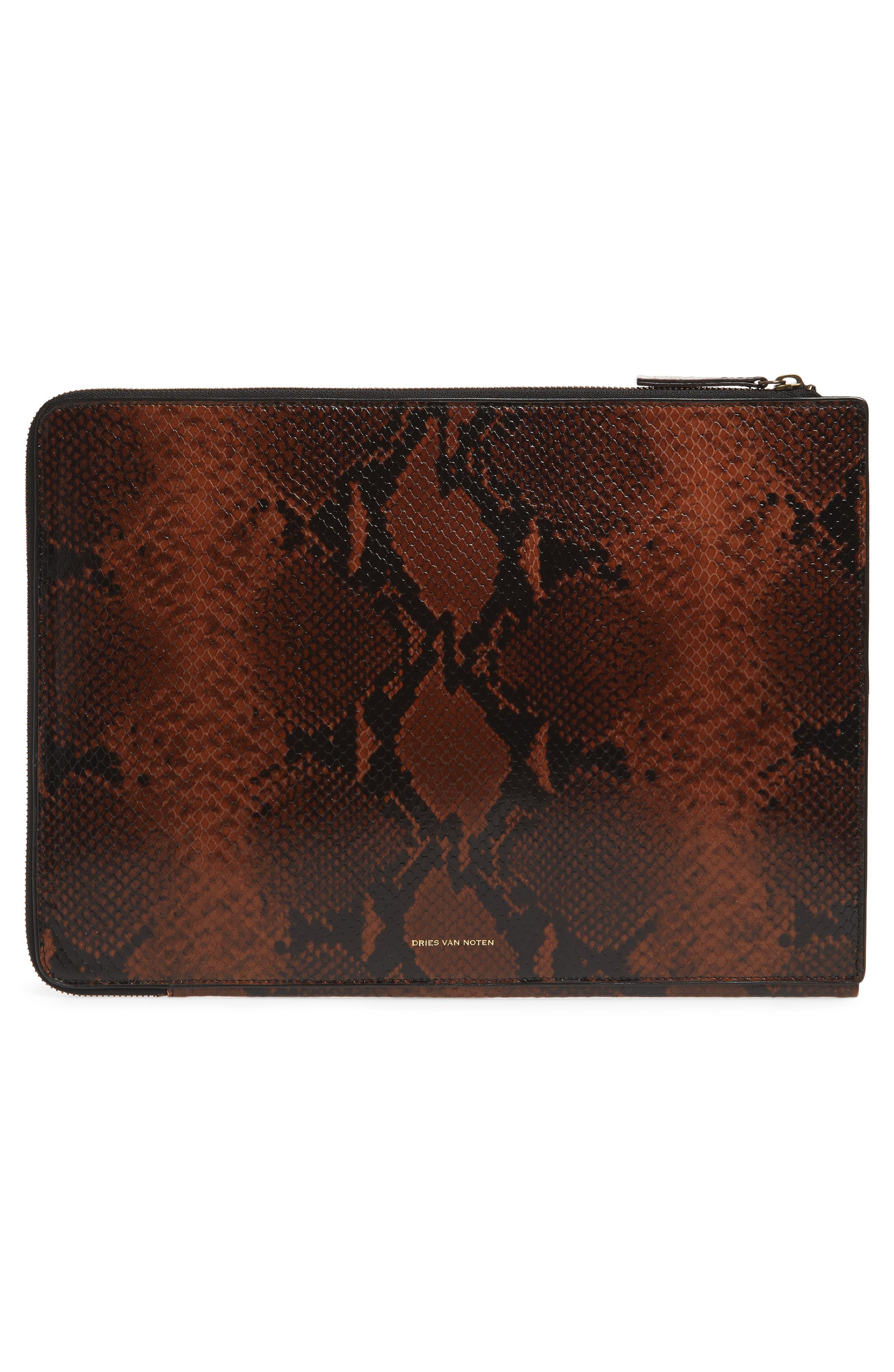 Leather Laptop Sleeve,                             Alternate thumbnail 4, color,                             200