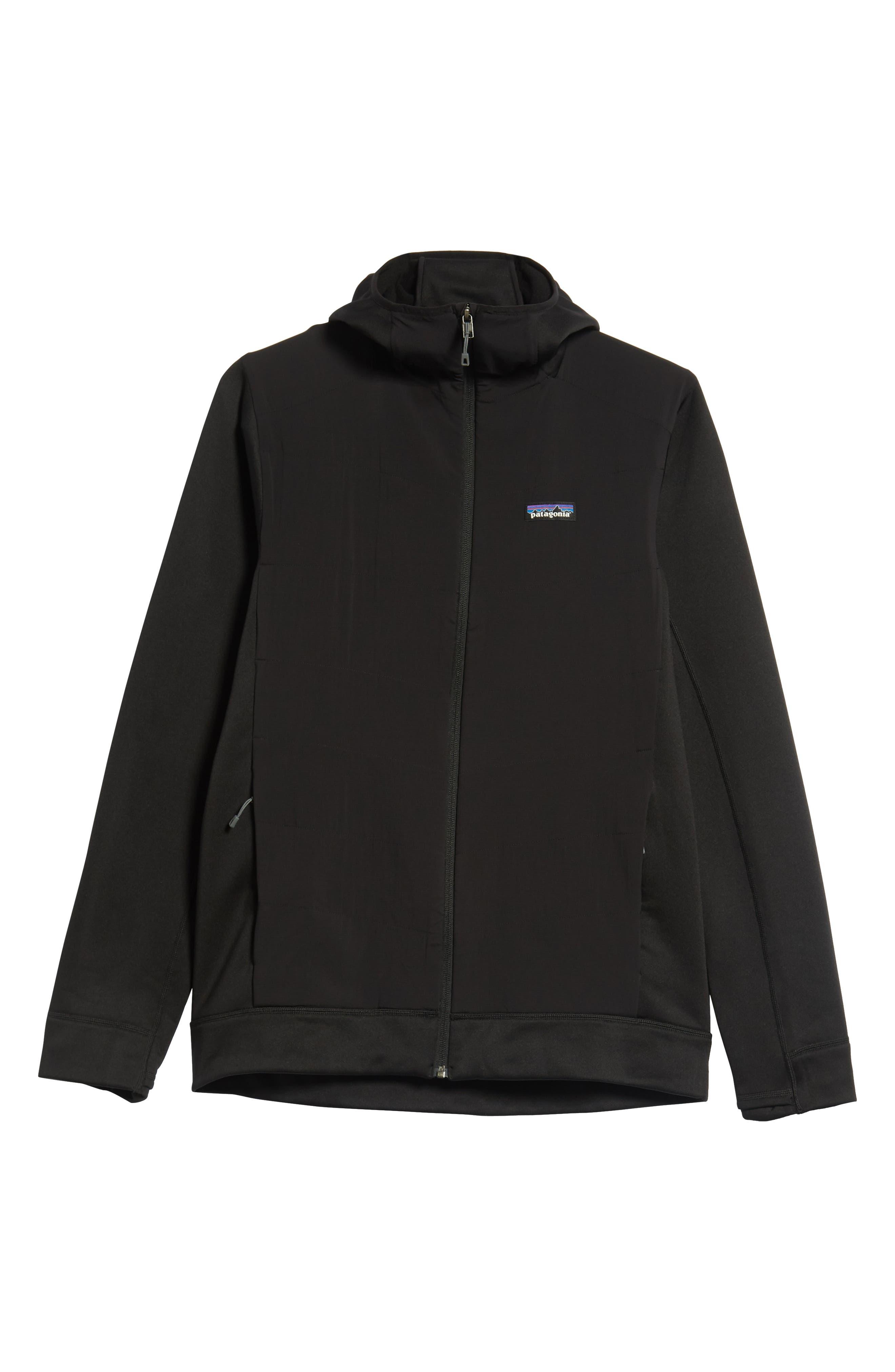 Crosstek Hybrid Hooded Jacket,                             Alternate thumbnail 6, color,                             BLACK