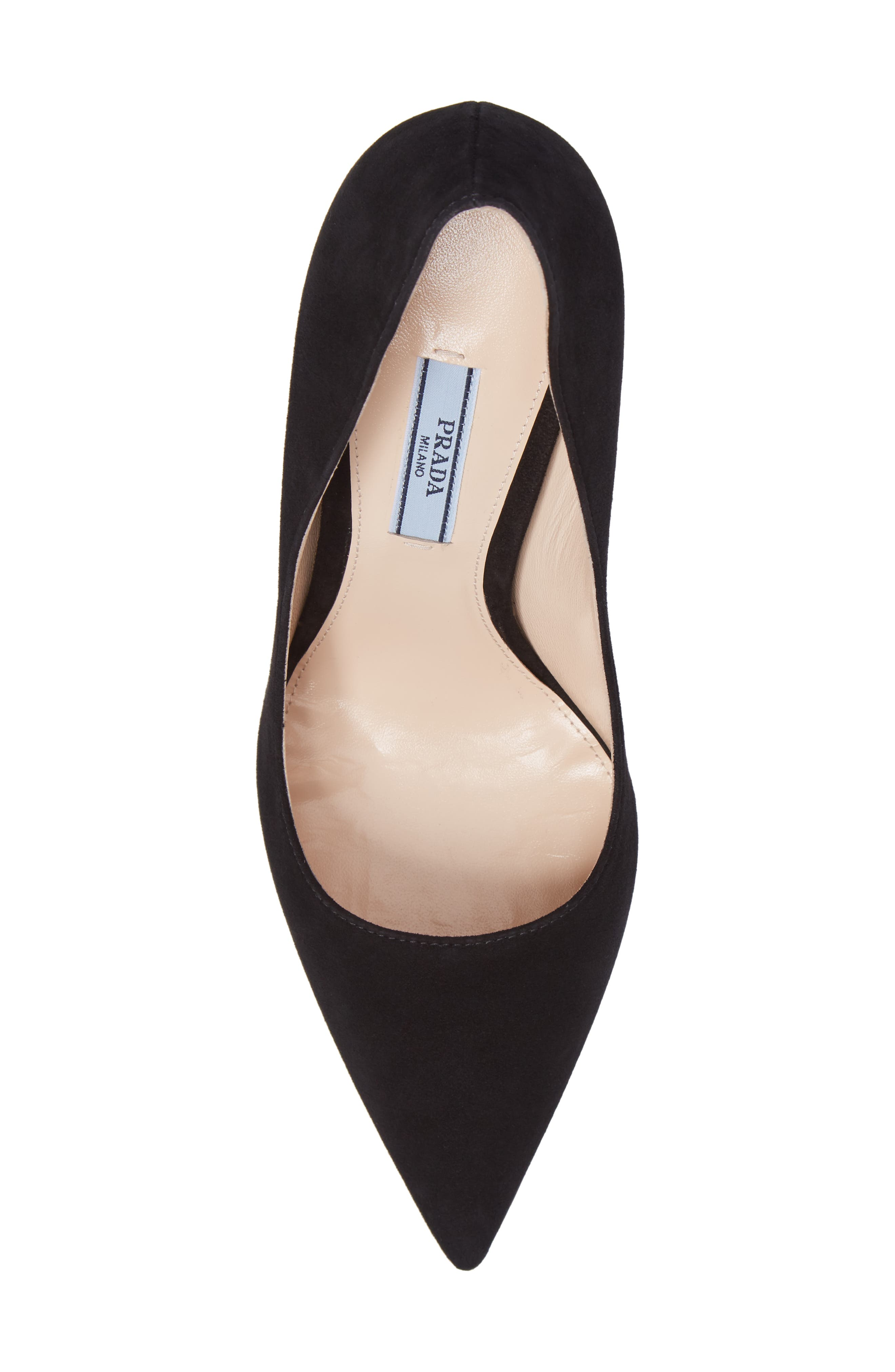 Pointy Toe Pump,                             Alternate thumbnail 5, color,                             BLACK