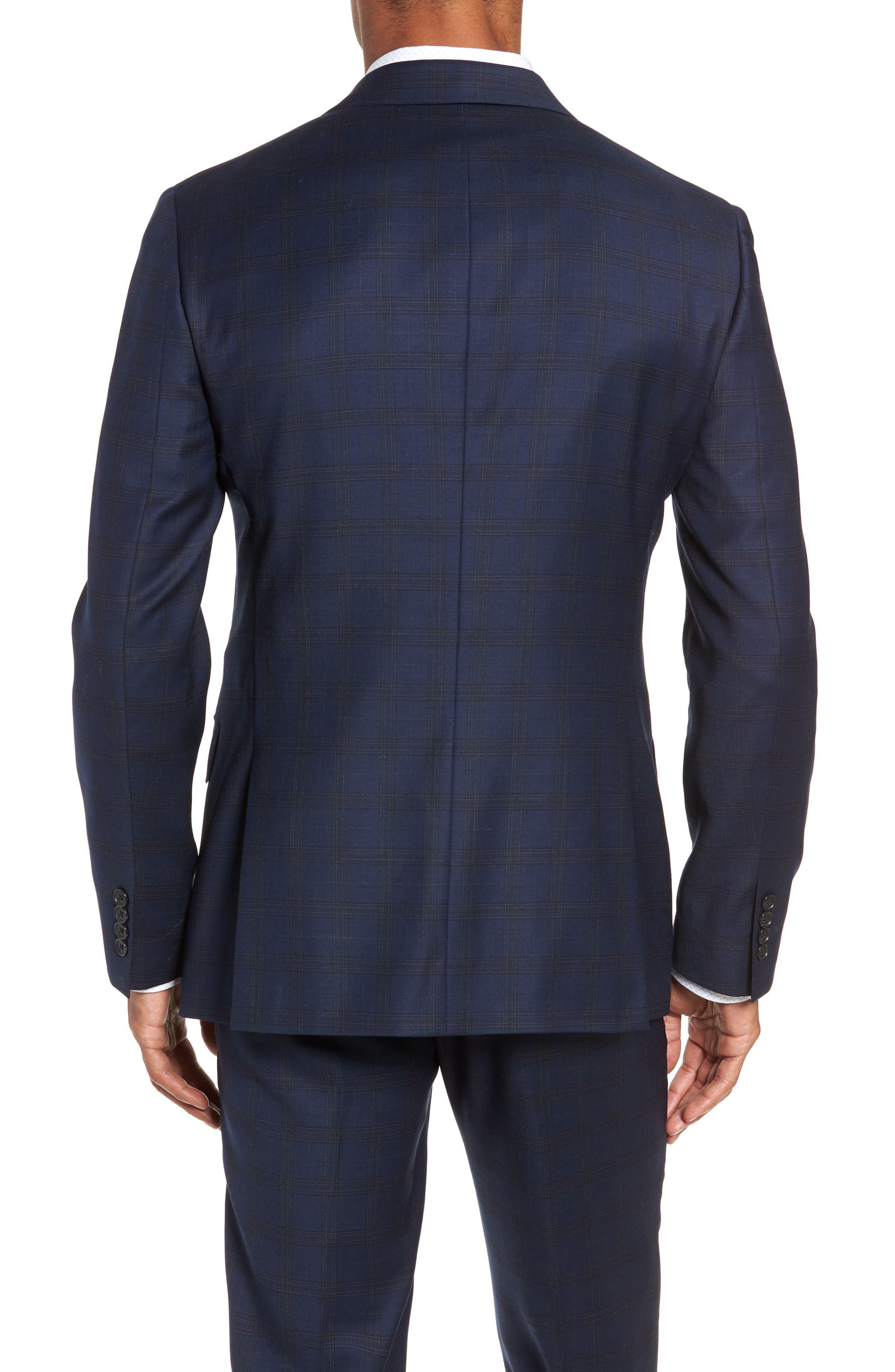 Jetsetter Slim Fit Stretch Wool Sport Coat,                             Main thumbnail 1, color,                             SUBTLE NAVY PLAID