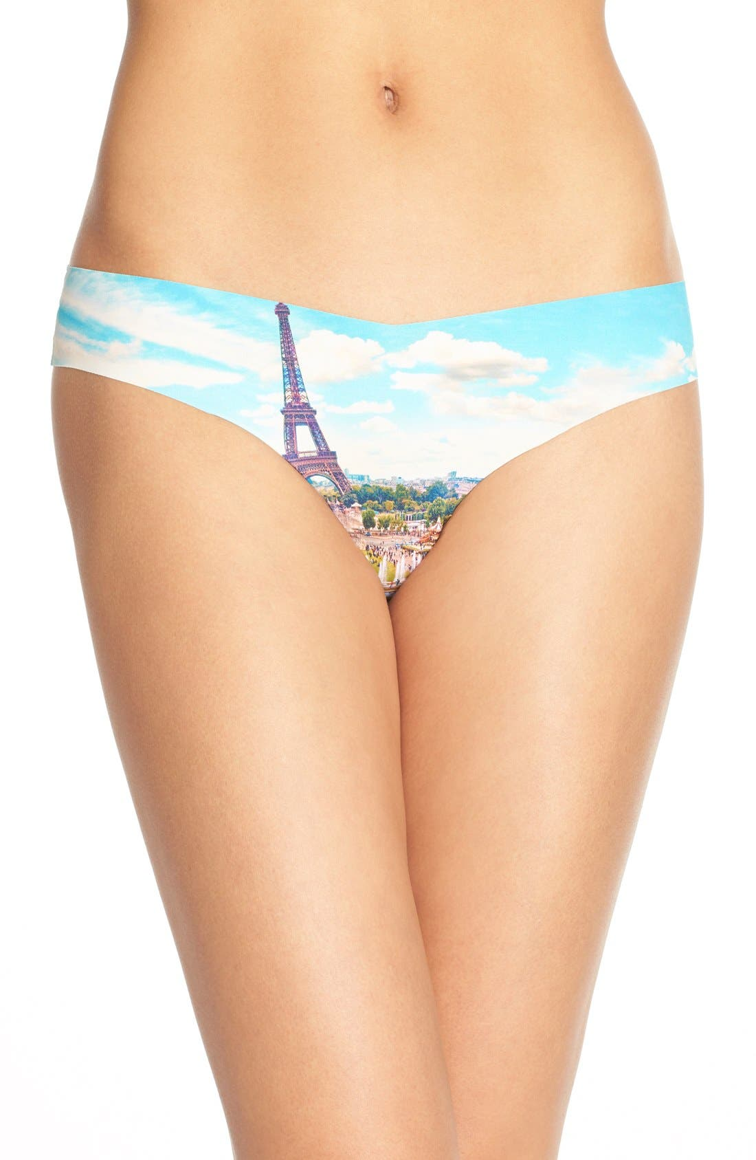 Print Microfiber Thong,                             Main thumbnail 66, color,
