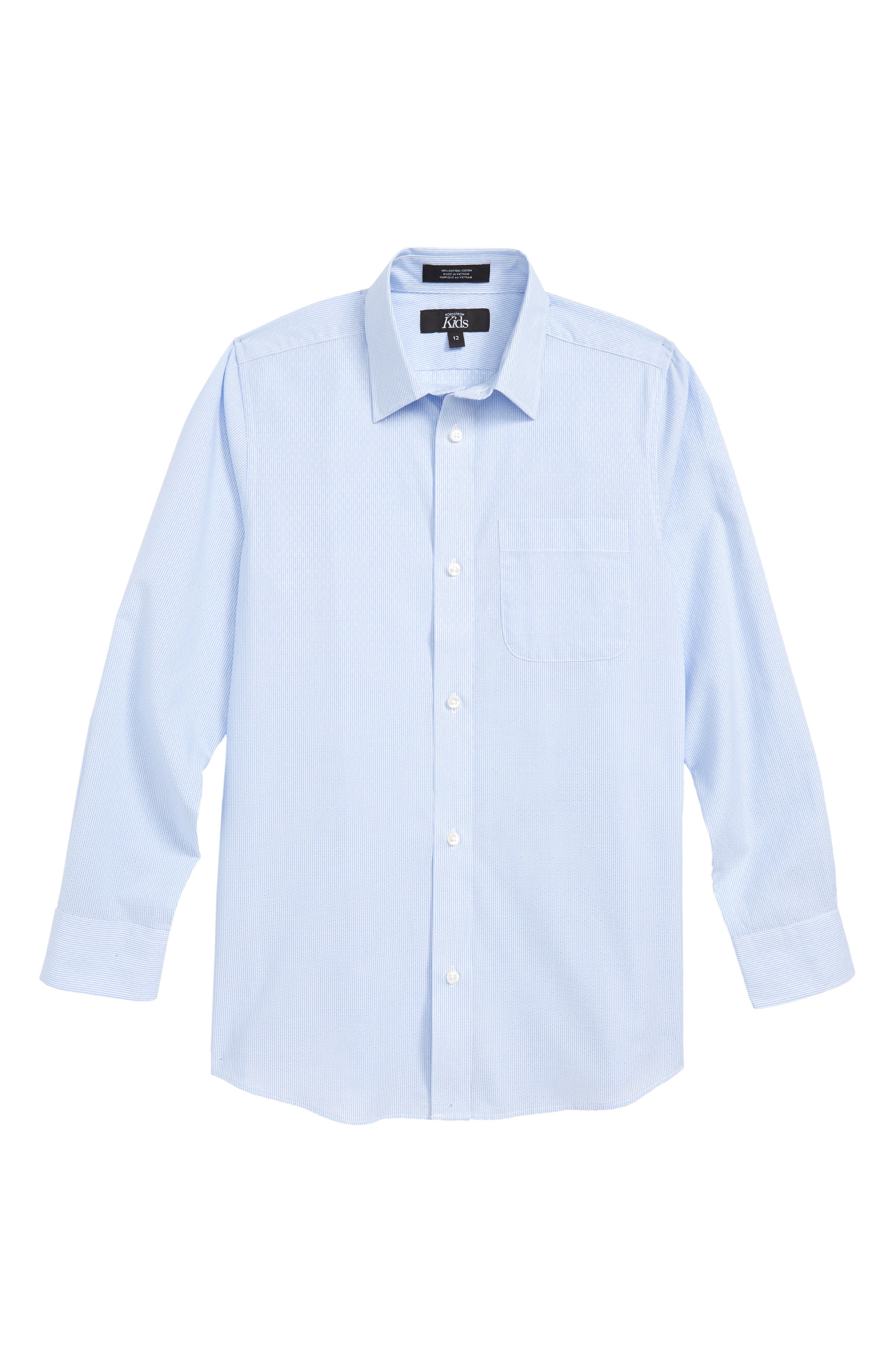Robbia Dobby Dress Shirt,                         Main,                         color, BLUE ROBBIA- WHITE DOBBY