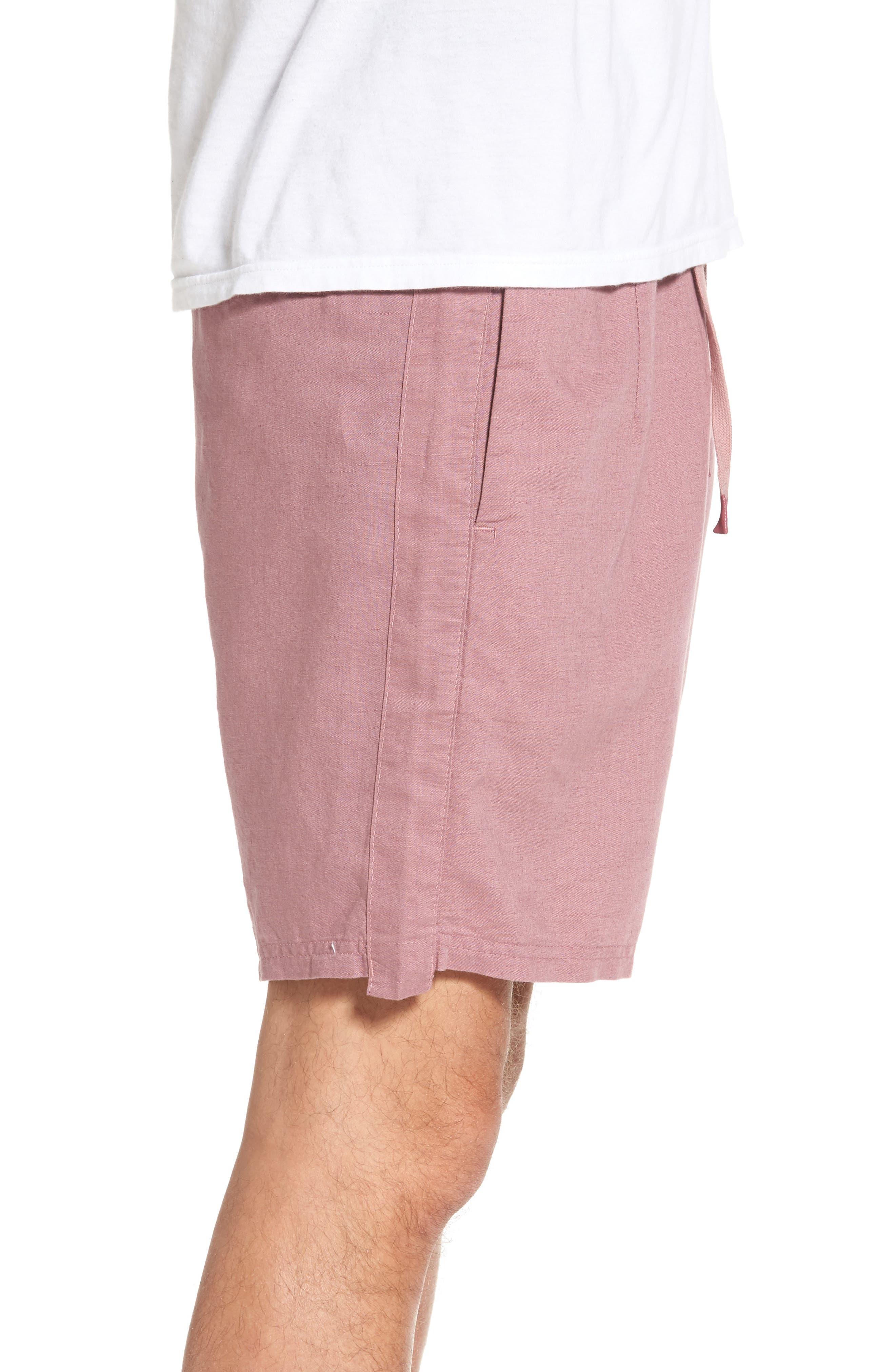 Omni Linen Blend Shorts,                             Alternate thumbnail 8, color,