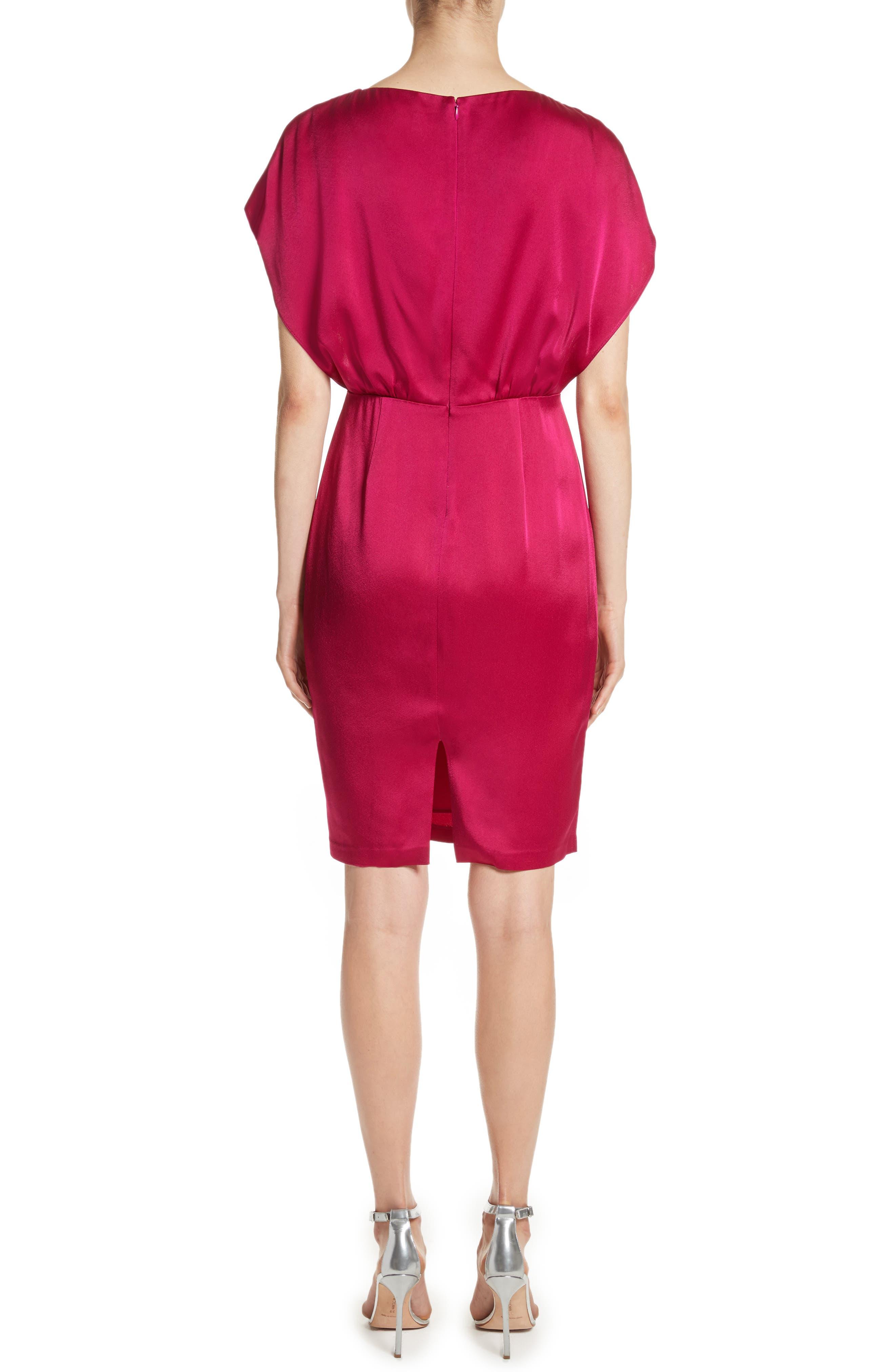 Draped Liquid Crepe Dress,                             Alternate thumbnail 2, color,                             600