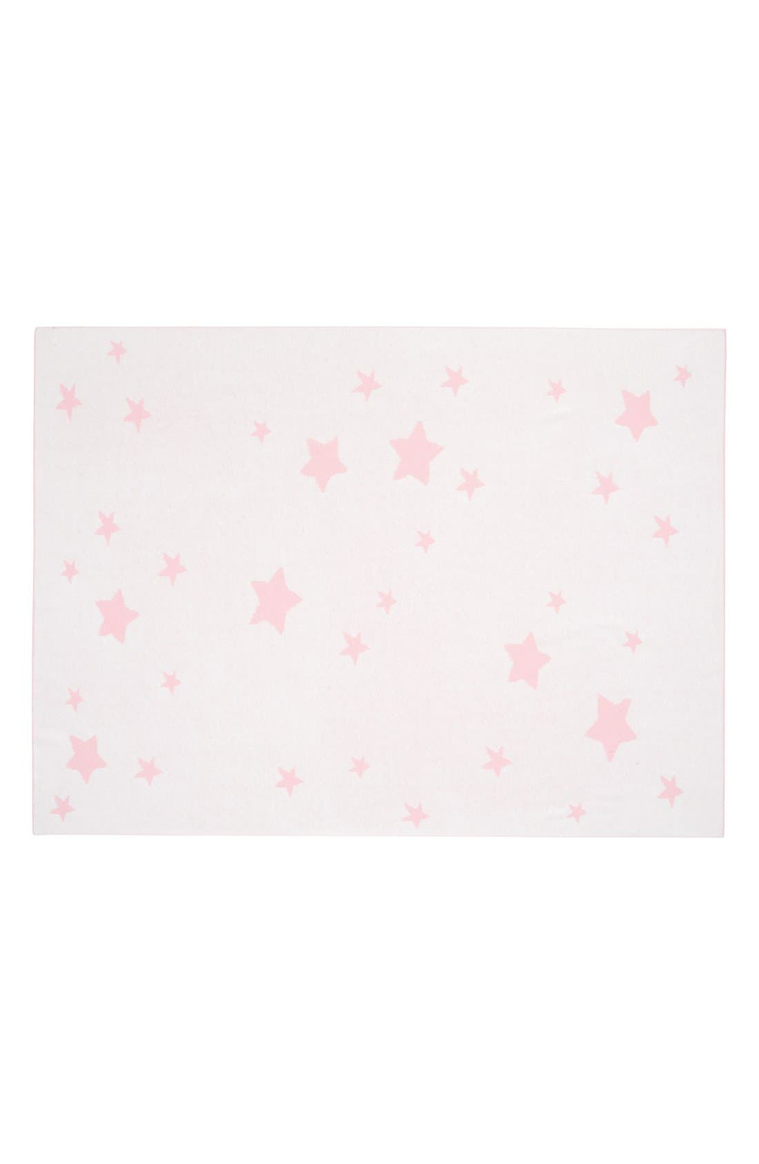 'Star' Knit Blanket,                             Alternate thumbnail 3, color,                             LIGHT PINK