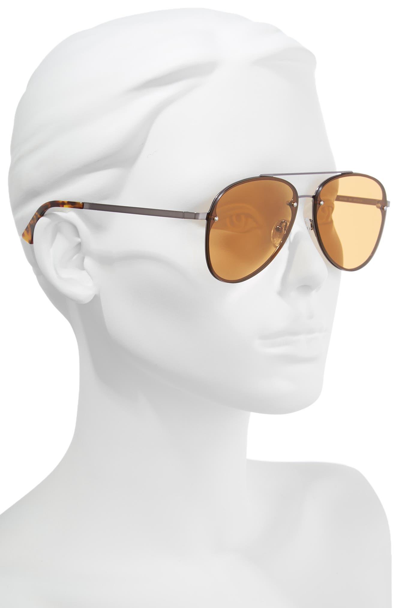 59mm Aviator Sunglasses,                             Alternate thumbnail 2, color,                             RUTHENIUM