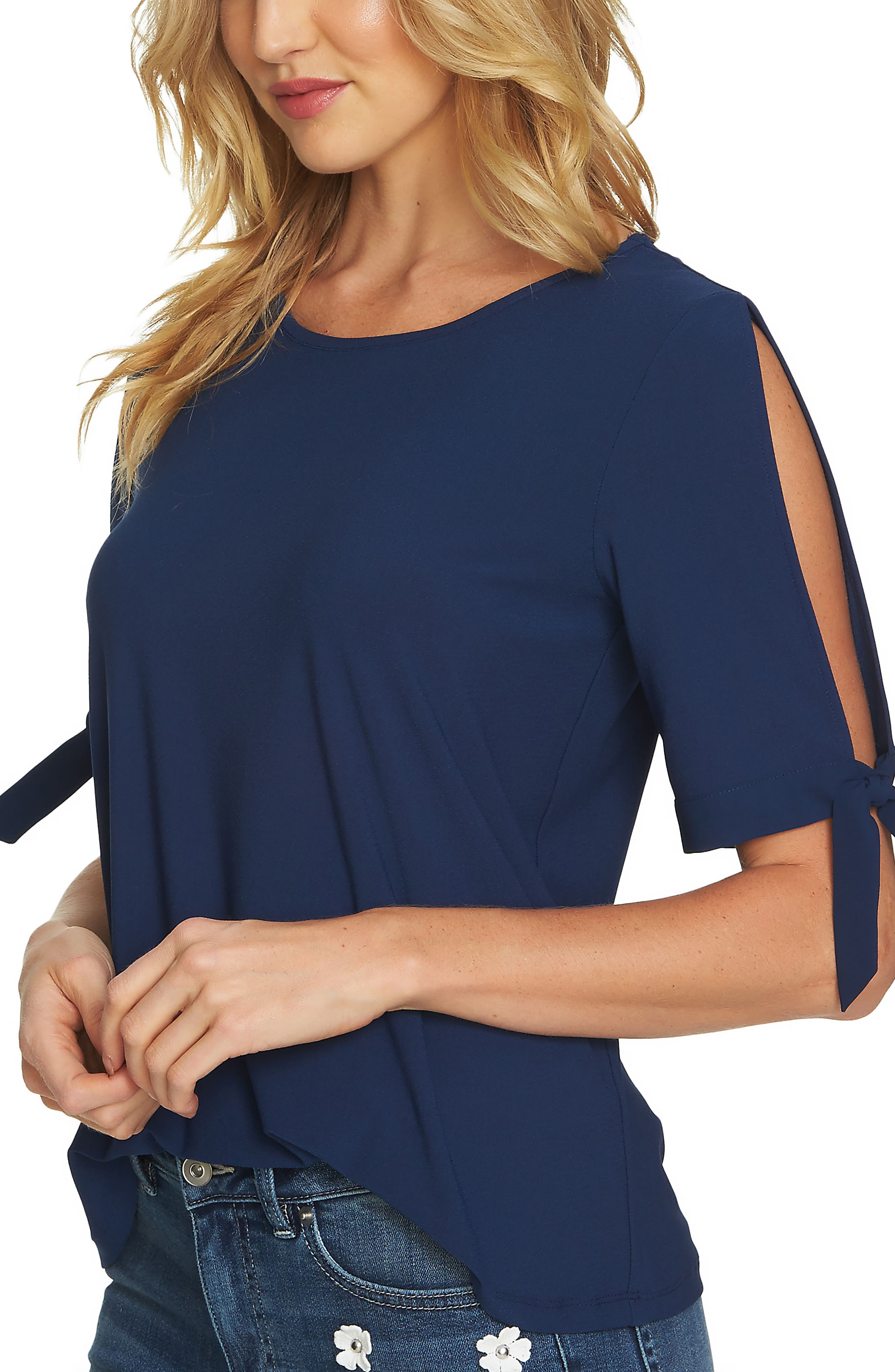Tie Sleeve Top,                         Main,                         color, 429