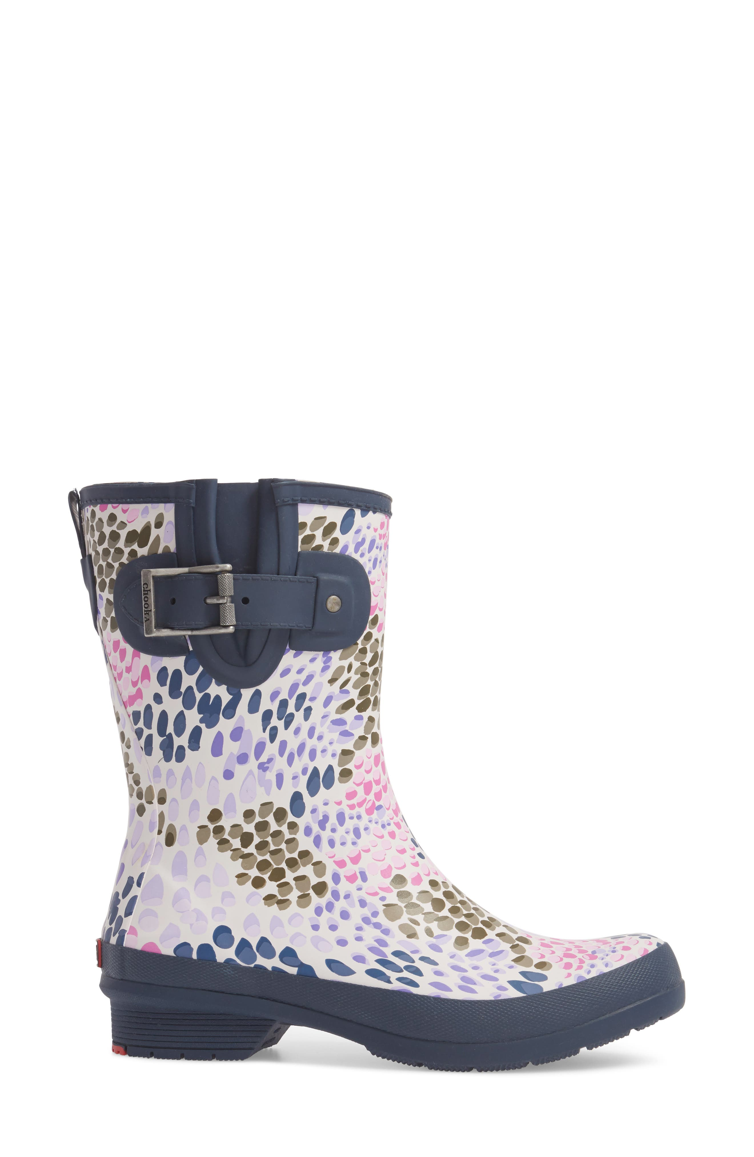 Tillie Mid Rain Boot,                             Alternate thumbnail 3, color,                             NAVY