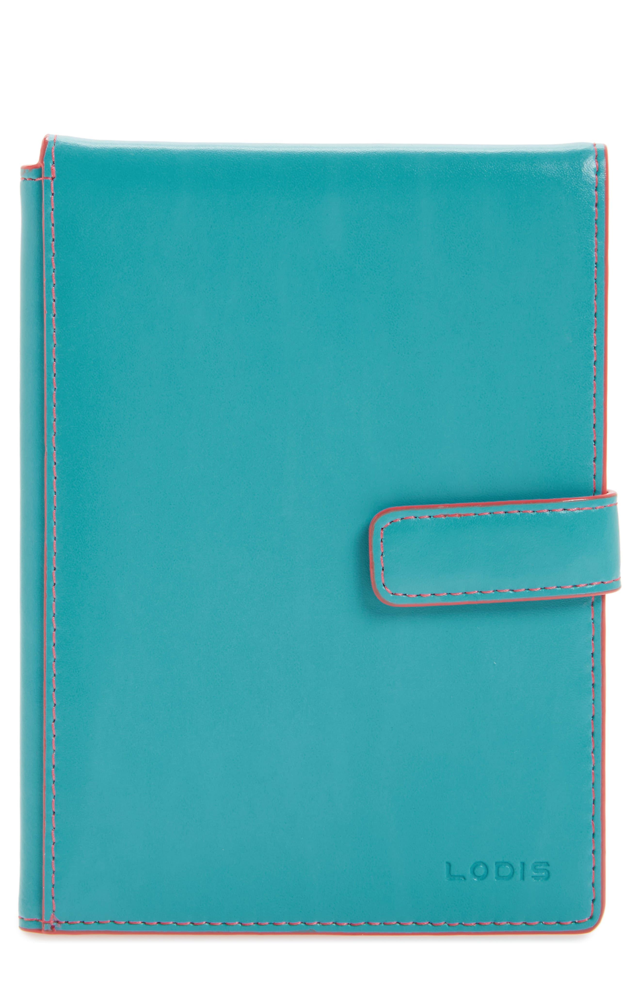 Audrey RFID Leather Passport Wallet,                             Main thumbnail 7, color,