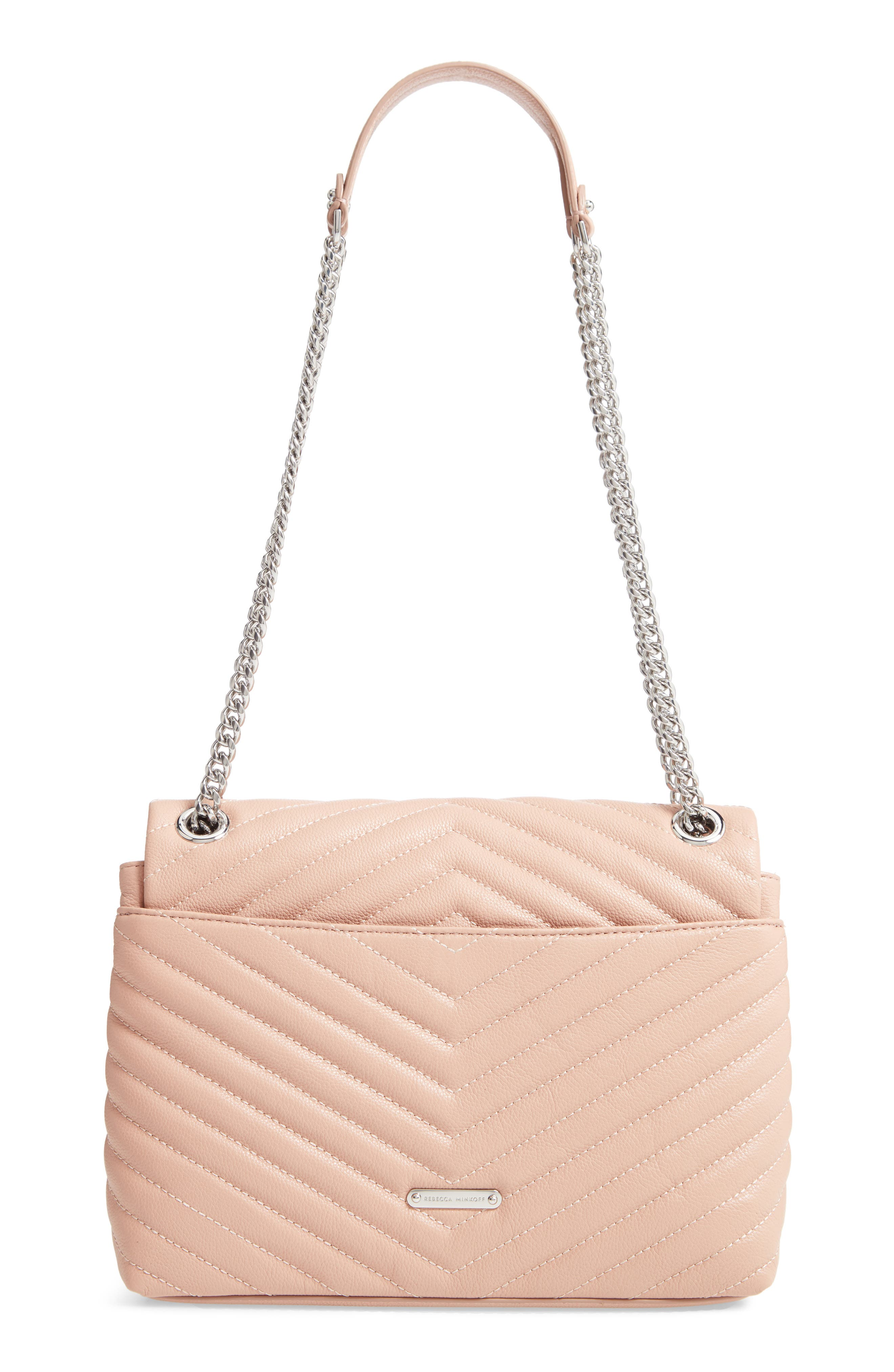 Edie Flap Quilted Leather Shoulder Bag,                             Alternate thumbnail 3, color,                             DOE