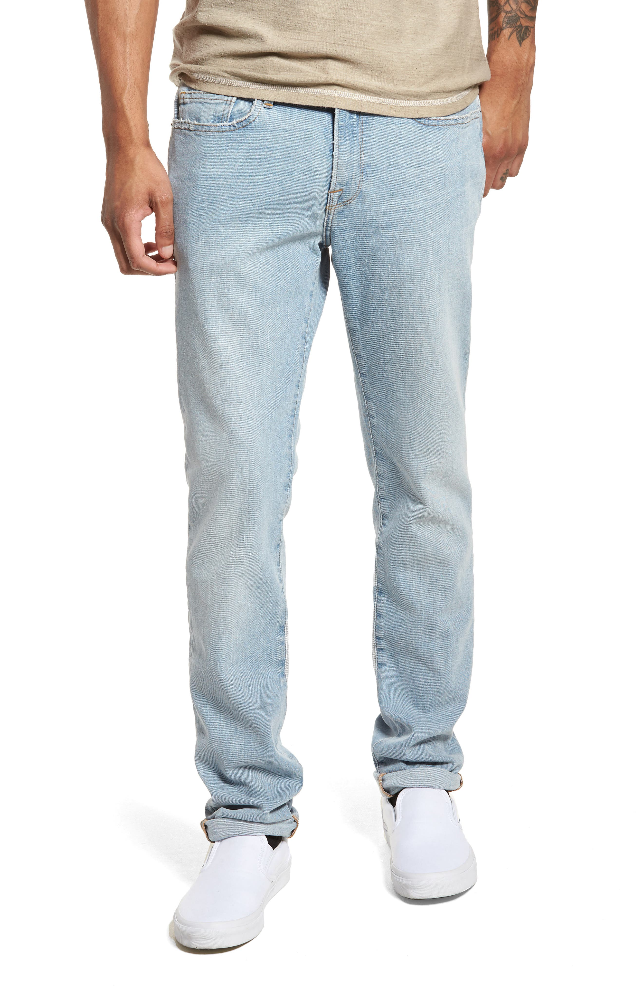 L'Homme Skinny Fit Jeans,                             Main thumbnail 1, color,                             450