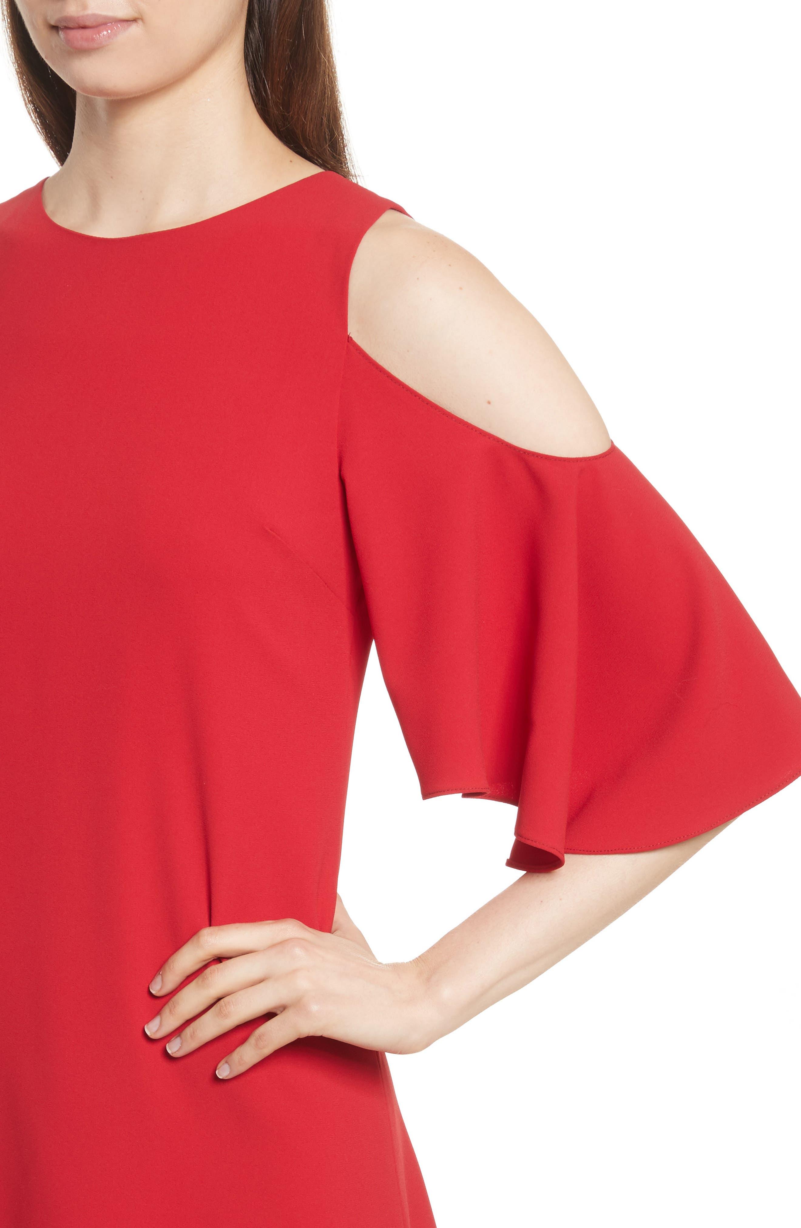 Coley Cold Shoulder A-Line Dress,                             Alternate thumbnail 4, color,                             623