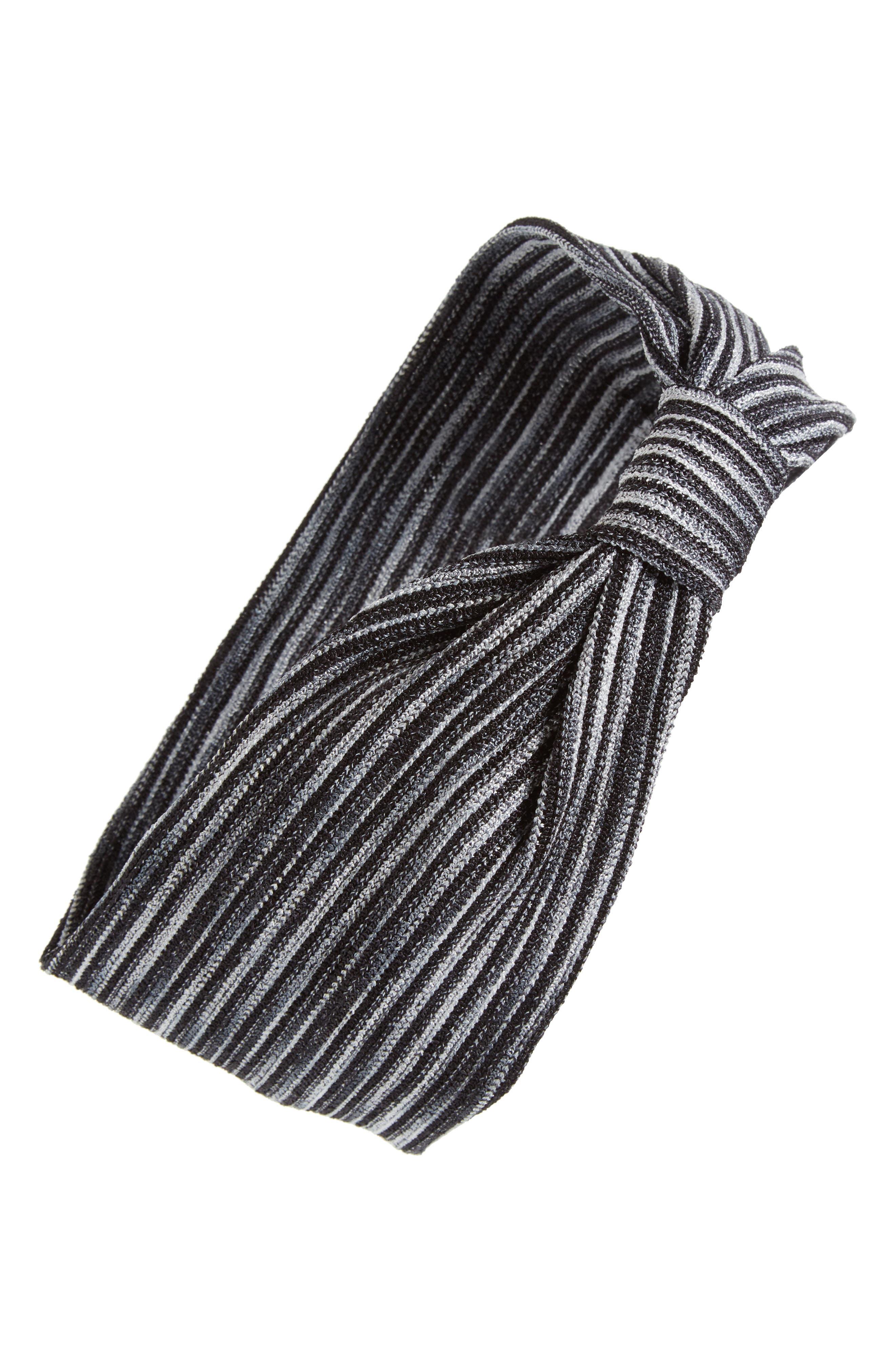Stripe Knot Head Wrap,                             Main thumbnail 1, color,