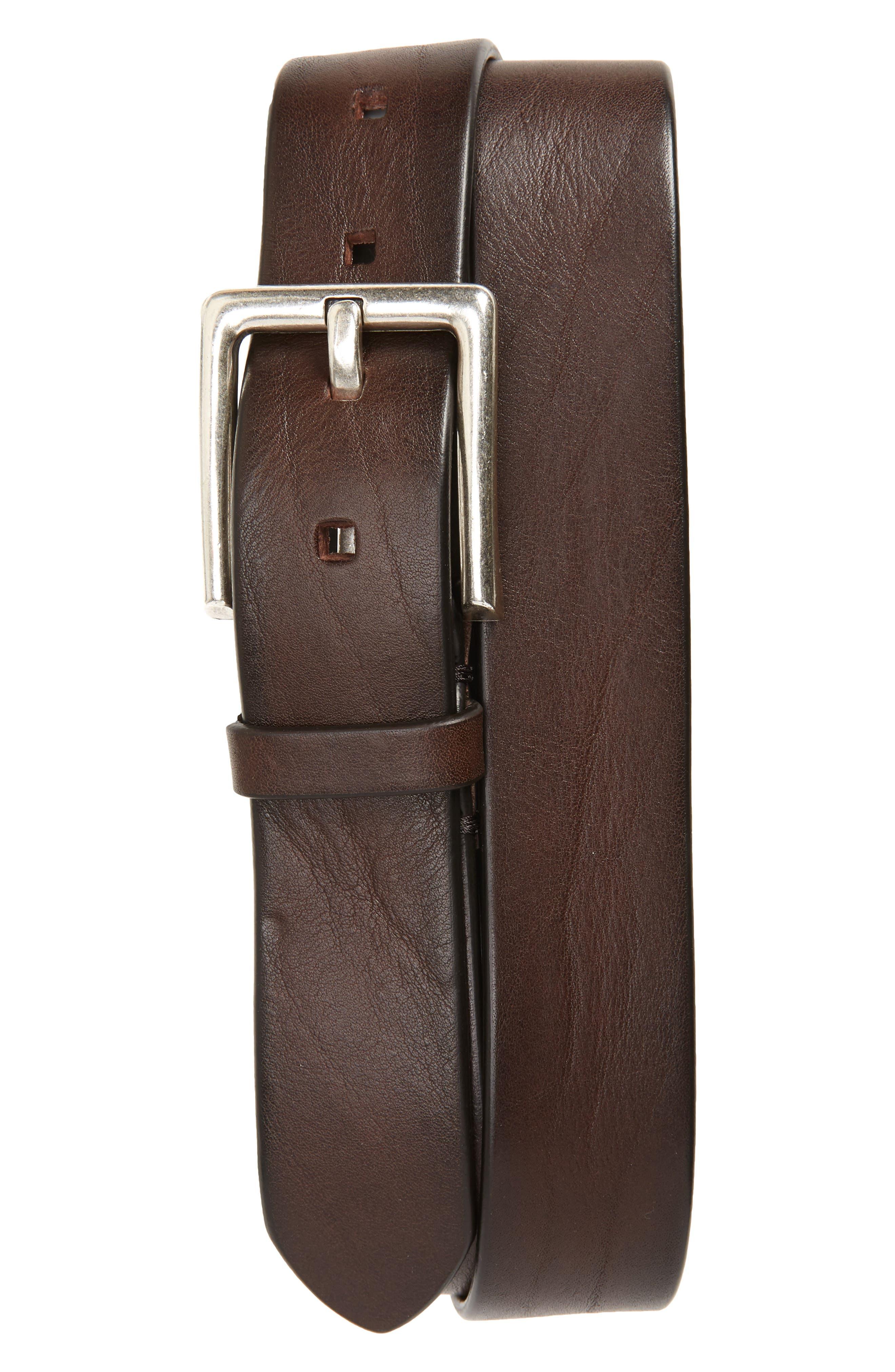 To Boot New York Vachetta Leather Belt, Florida Tmoro