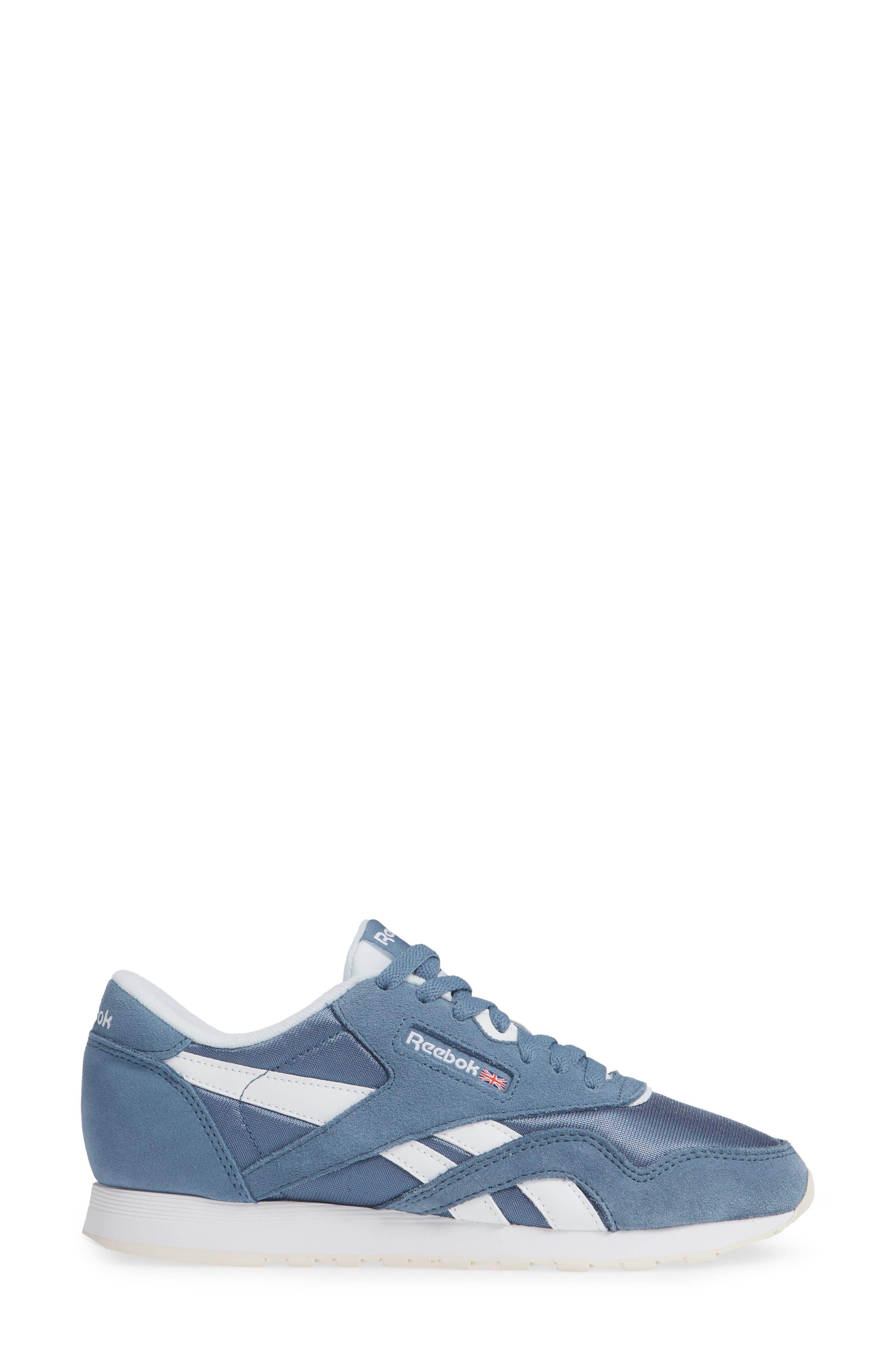 Classic Sneaker,                             Alternate thumbnail 3, color,                             BLUE SLATE/ WHITE/ CHALK