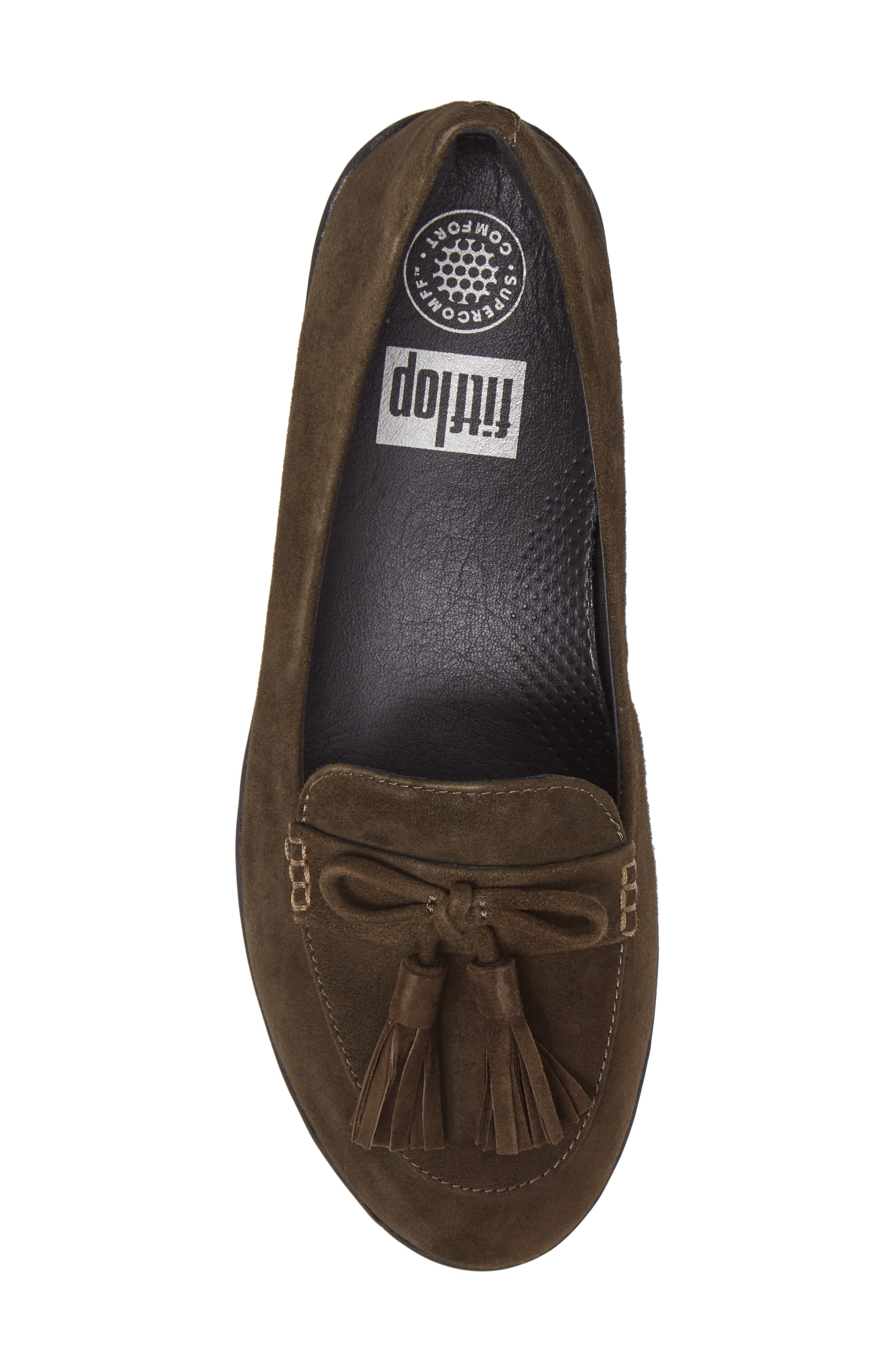 Tassel Bow Sneakerloafer<sup>™</sup> Water Repellent Flat,                             Alternate thumbnail 18, color,