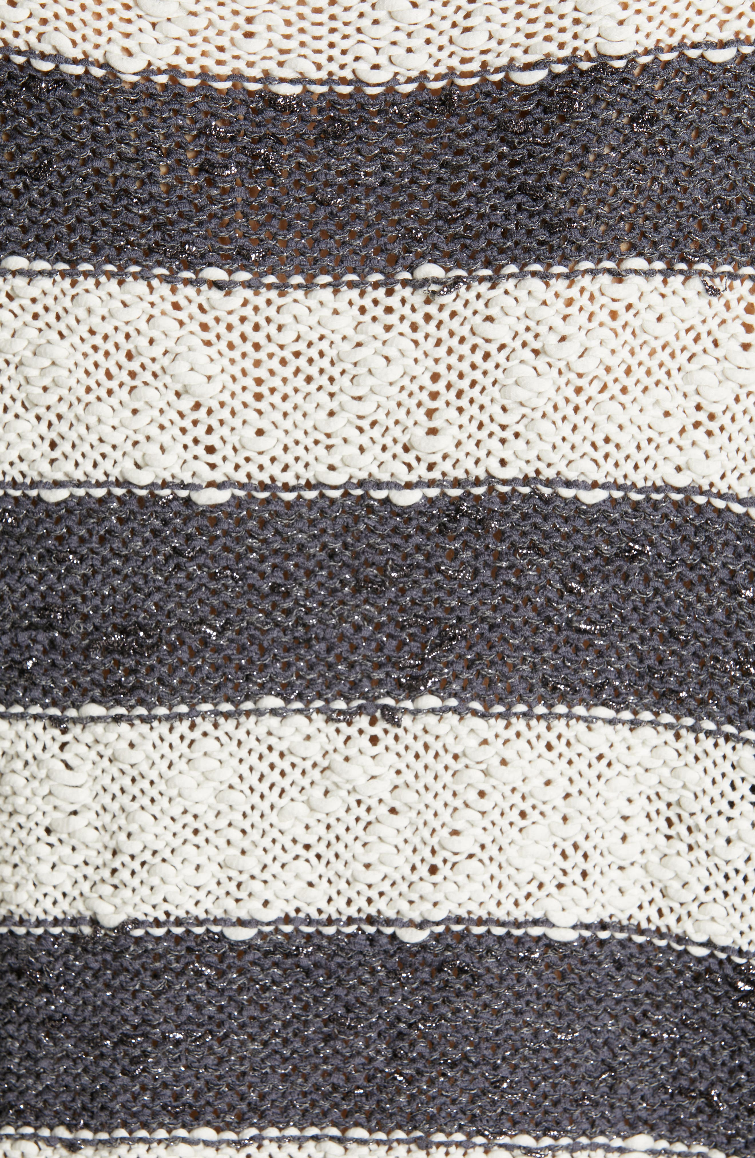 Stripe Knit Sweater,                             Alternate thumbnail 5, color,                             SLATE/ WHITE