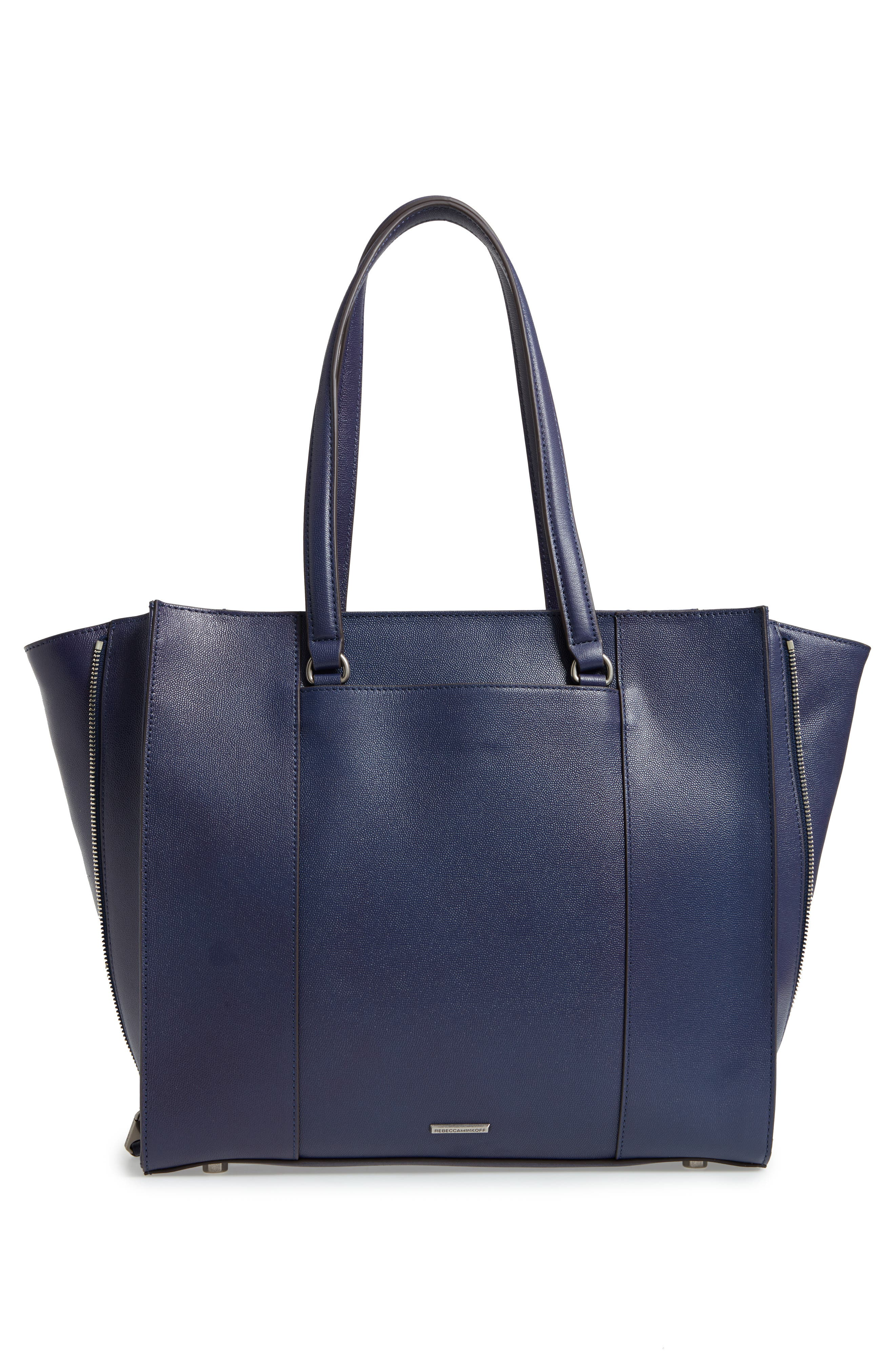 Always On Regan Leather Tote,                             Alternate thumbnail 3, color,