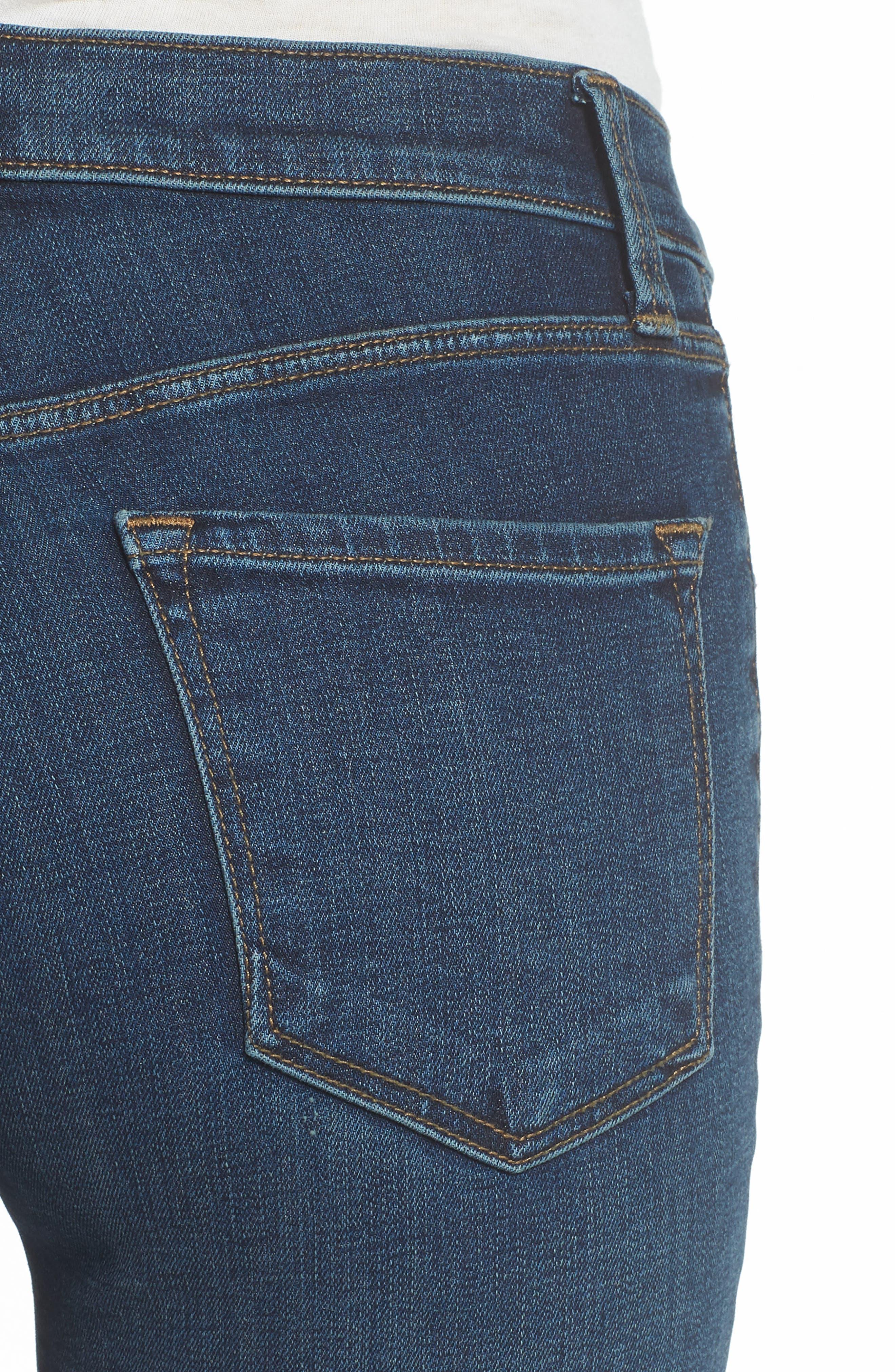 Maria High Waist Skinny Jeans,                             Alternate thumbnail 4, color,                             REVIVAL