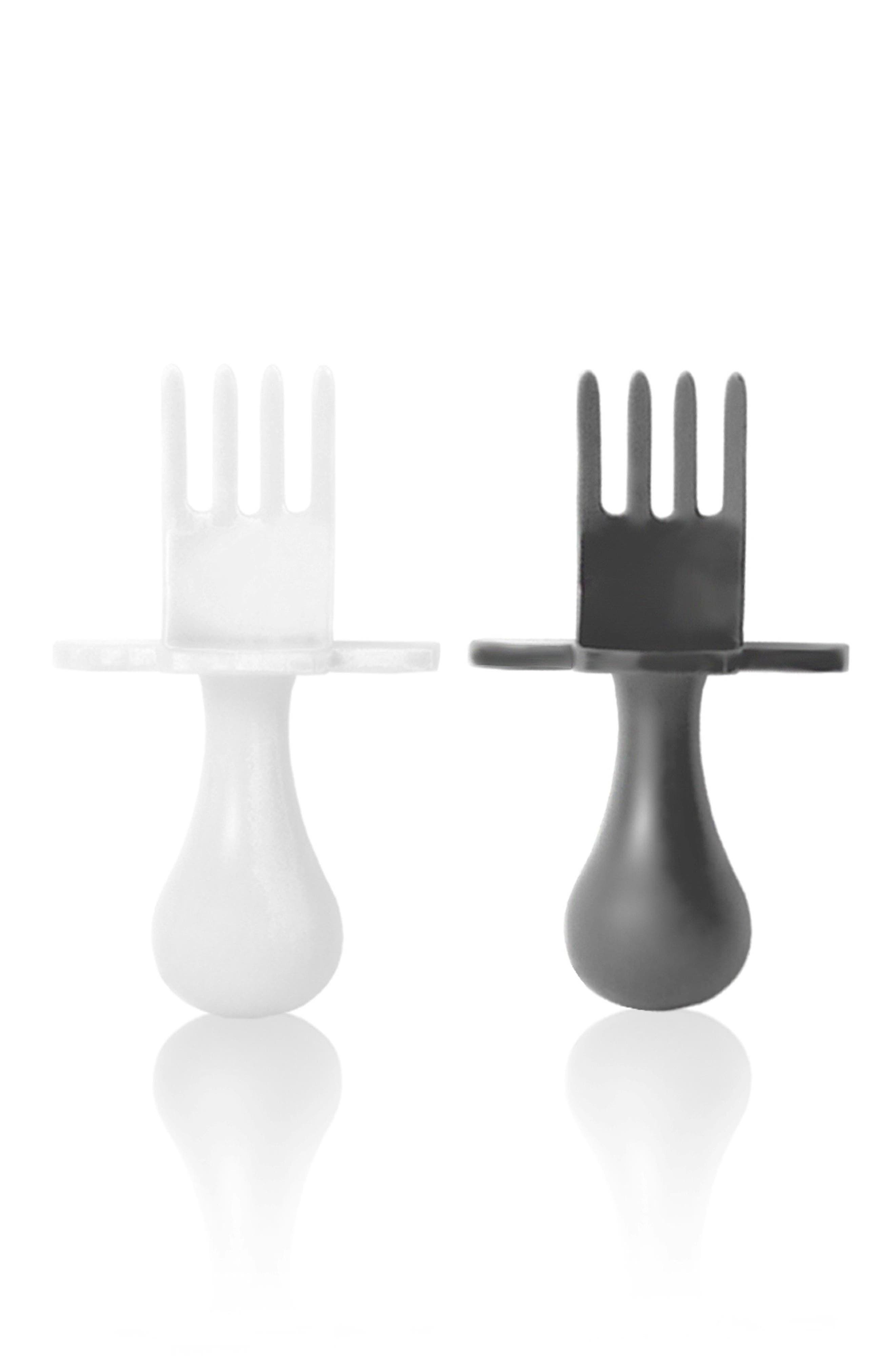Self Feeding Fork Set,                             Main thumbnail 1, color,                             MIX WHITE AND GRAY