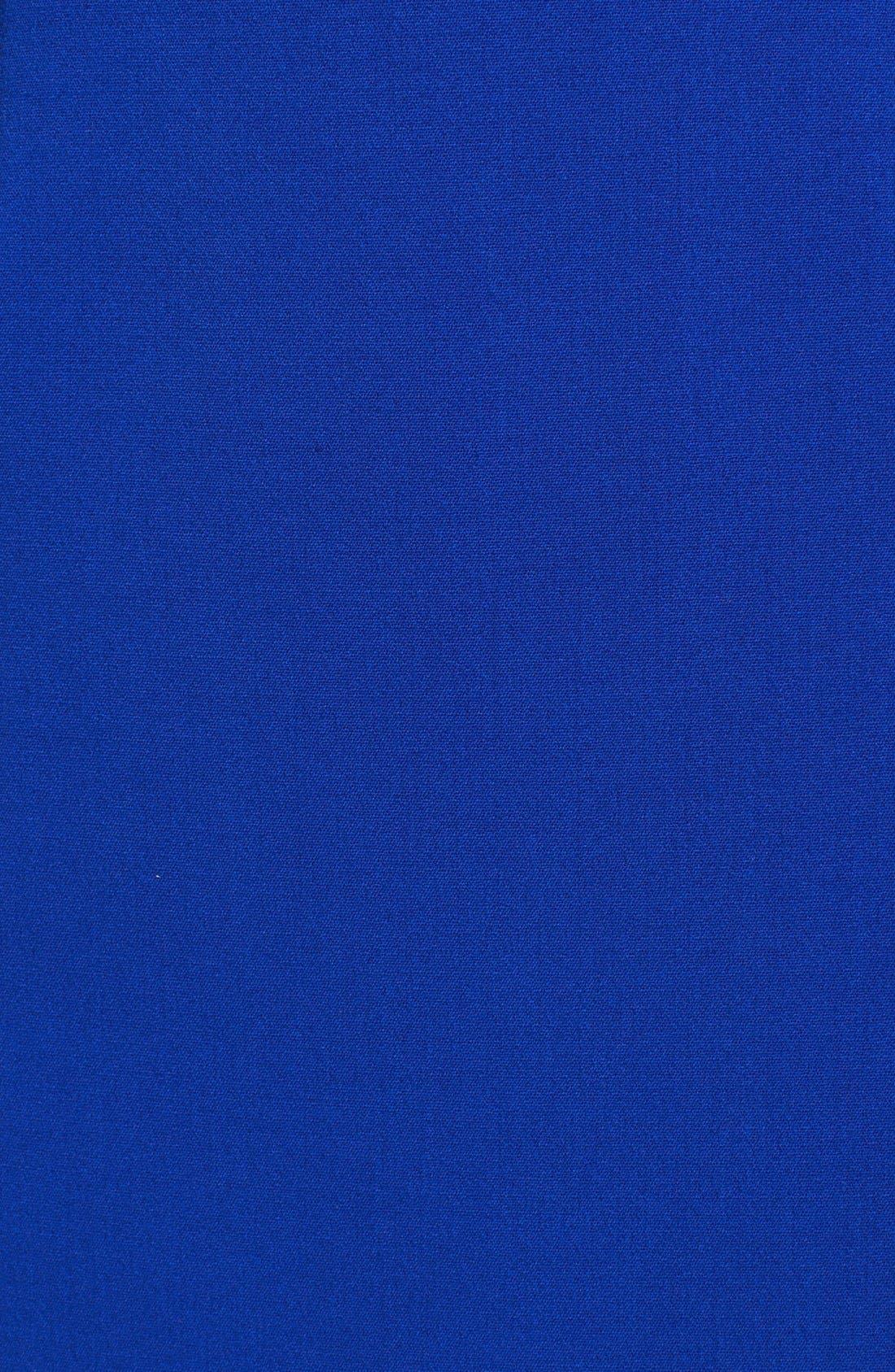 ELIZA J,                             Faux Leather Trim Ponte Shift Dress,                             Alternate thumbnail 2, color,                             432