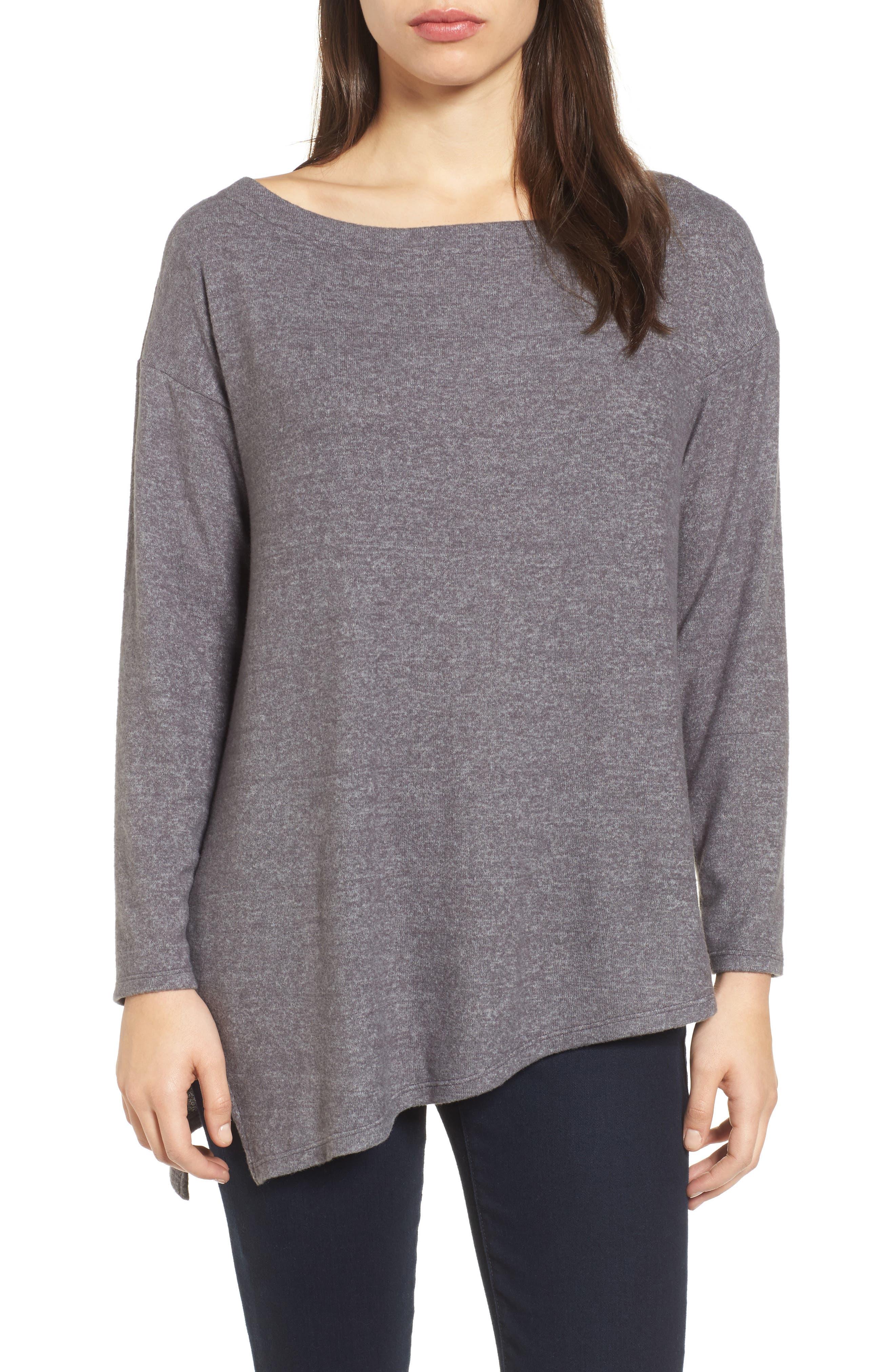 Asymmetrical Cozy Fleece Convertible Top,                         Main,                         color, 020
