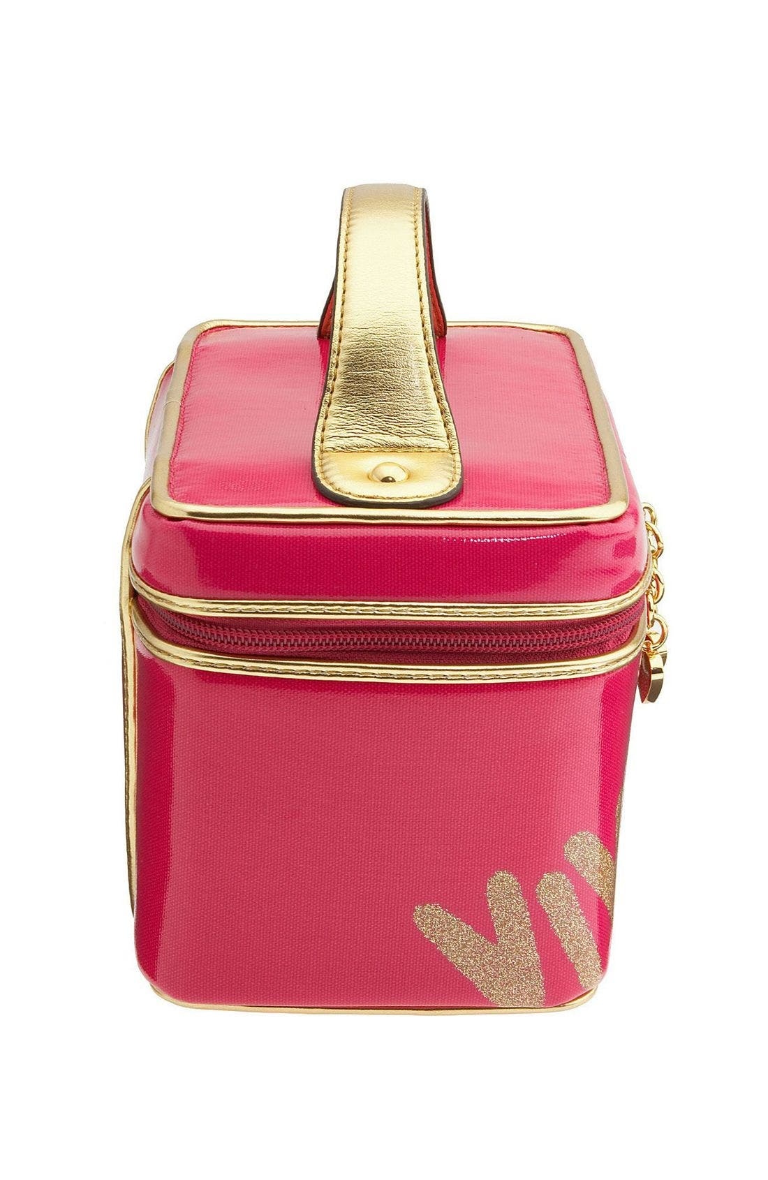 'Viva la Juicy' Cosmetics Case,                             Alternate thumbnail 3, color,                             659