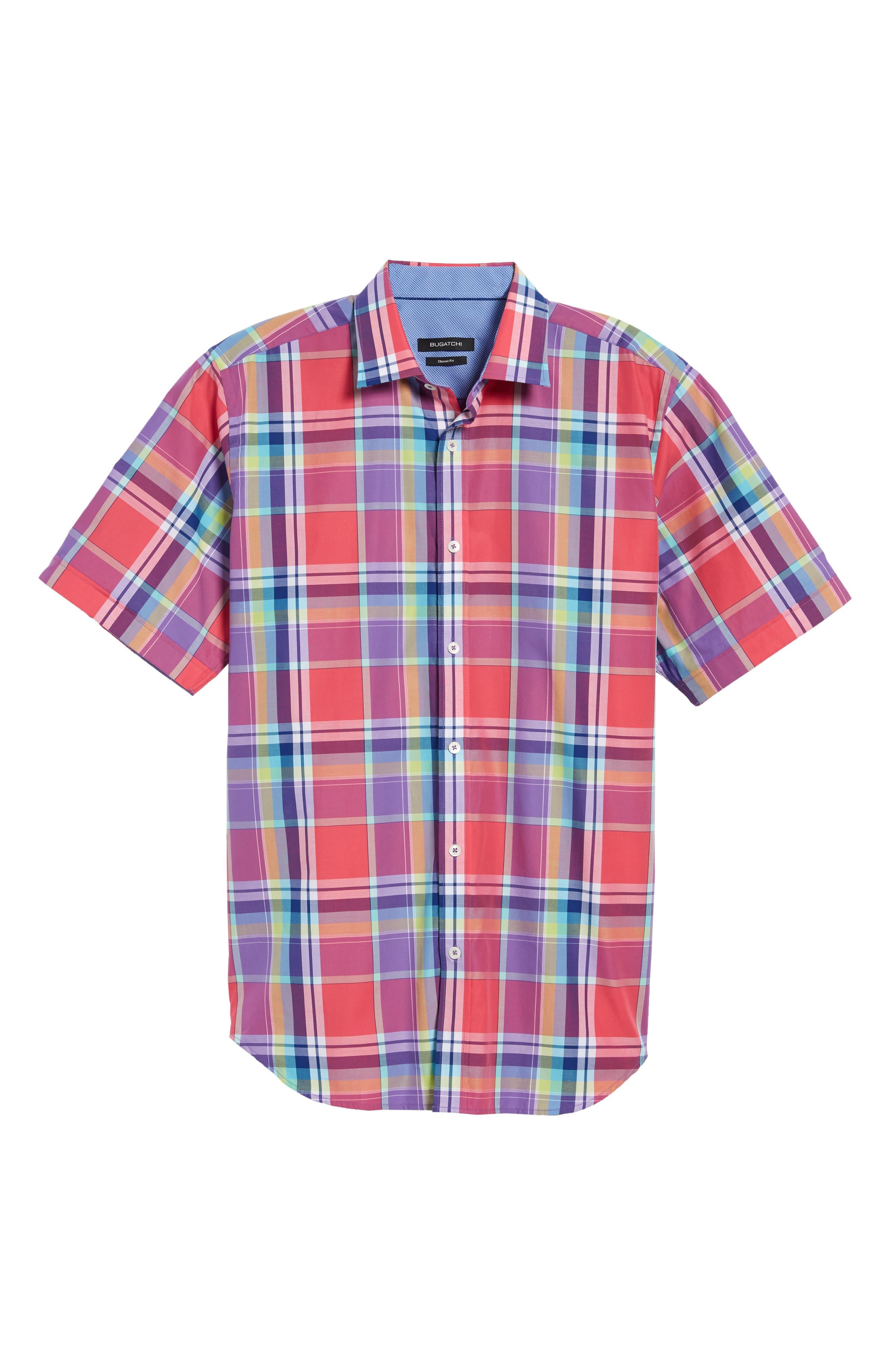 Classic Fit Plaid Sport Shirt,                             Alternate thumbnail 6, color,                             600