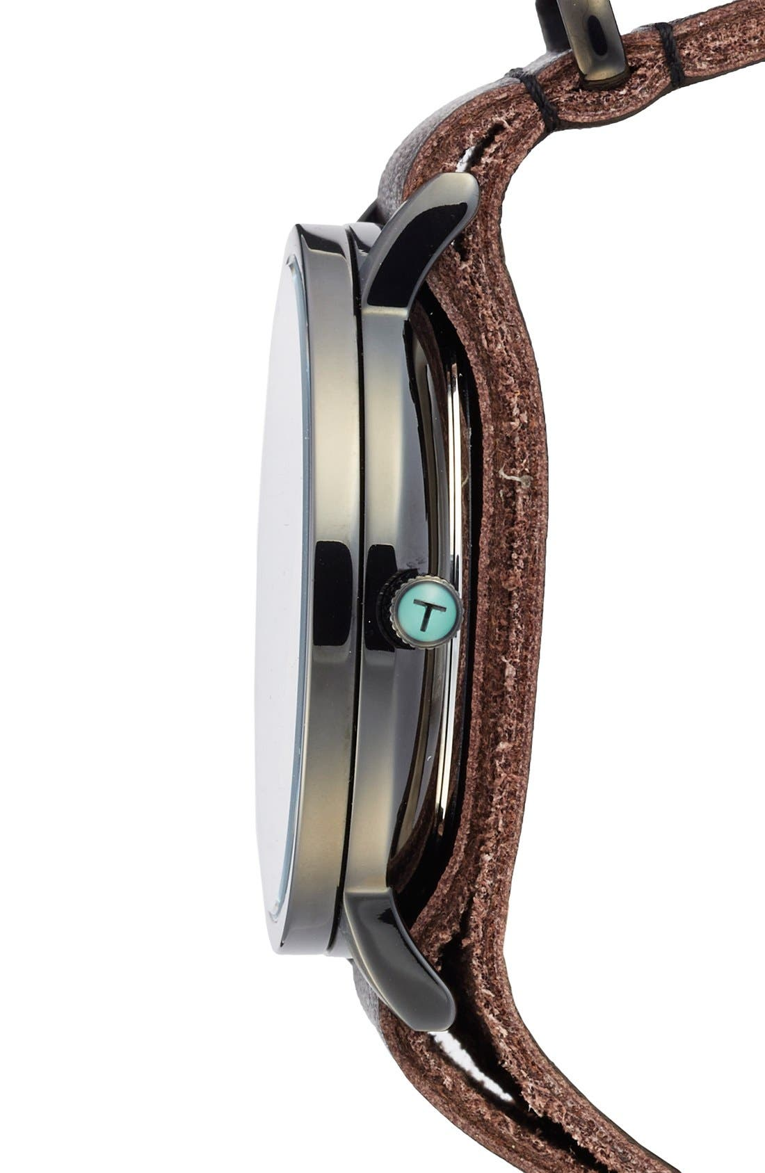 Leather Strap Watch, 40mm,                             Alternate thumbnail 3, color,                             209