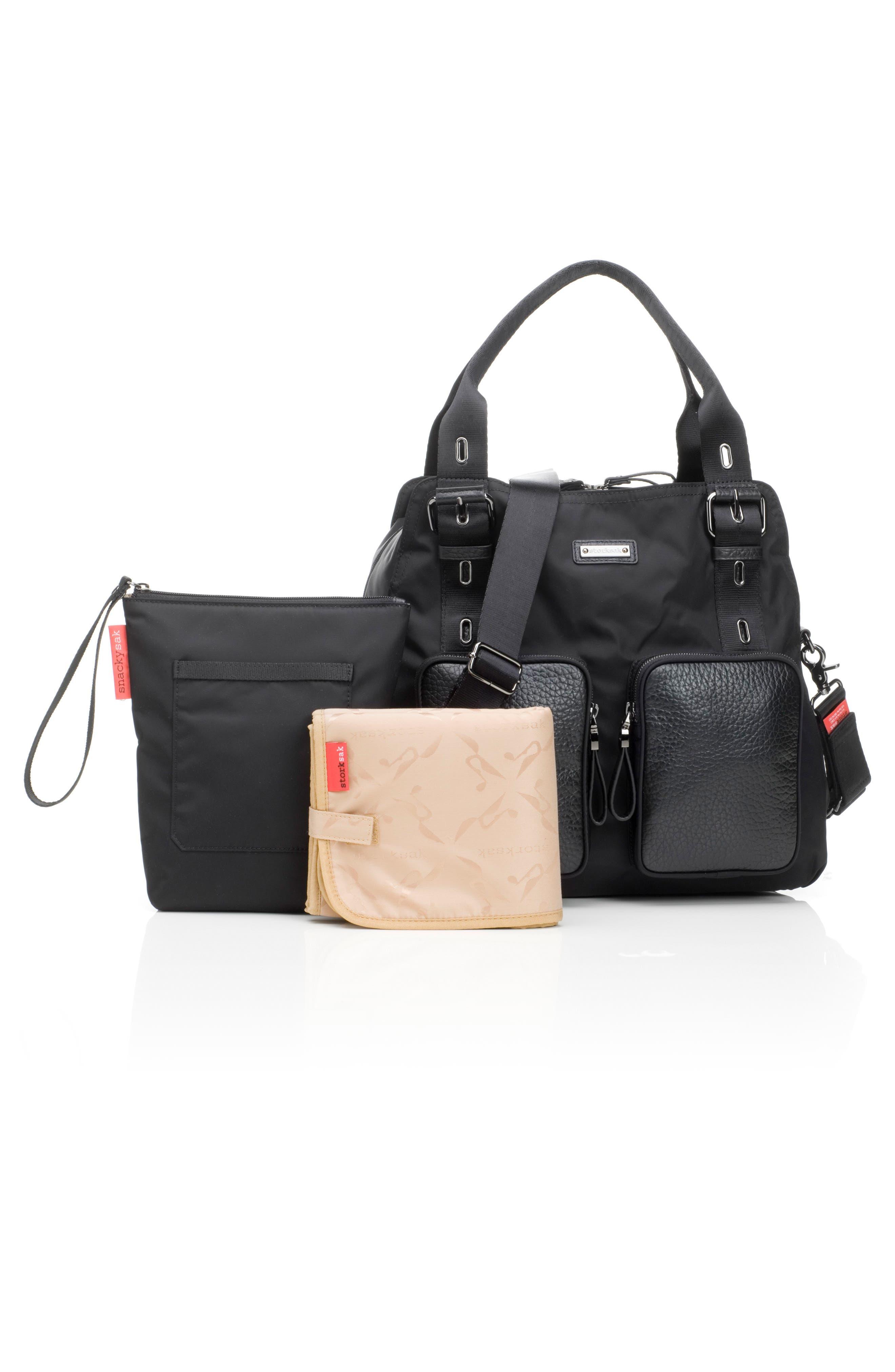 Alexa Luxe Diaper Bag,                             Alternate thumbnail 6, color,                             BLACK