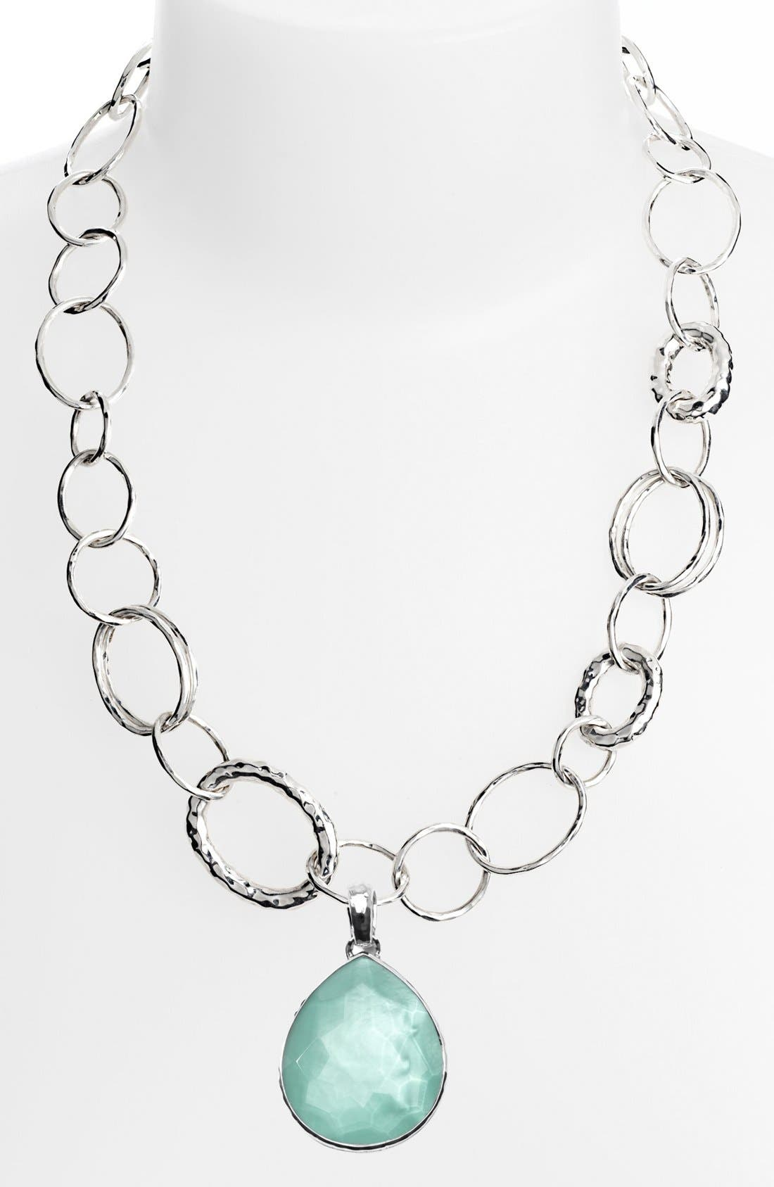 'Glamazon - Bastille' Sterling Silver Link Necklace,                             Alternate thumbnail 2, color,                             049