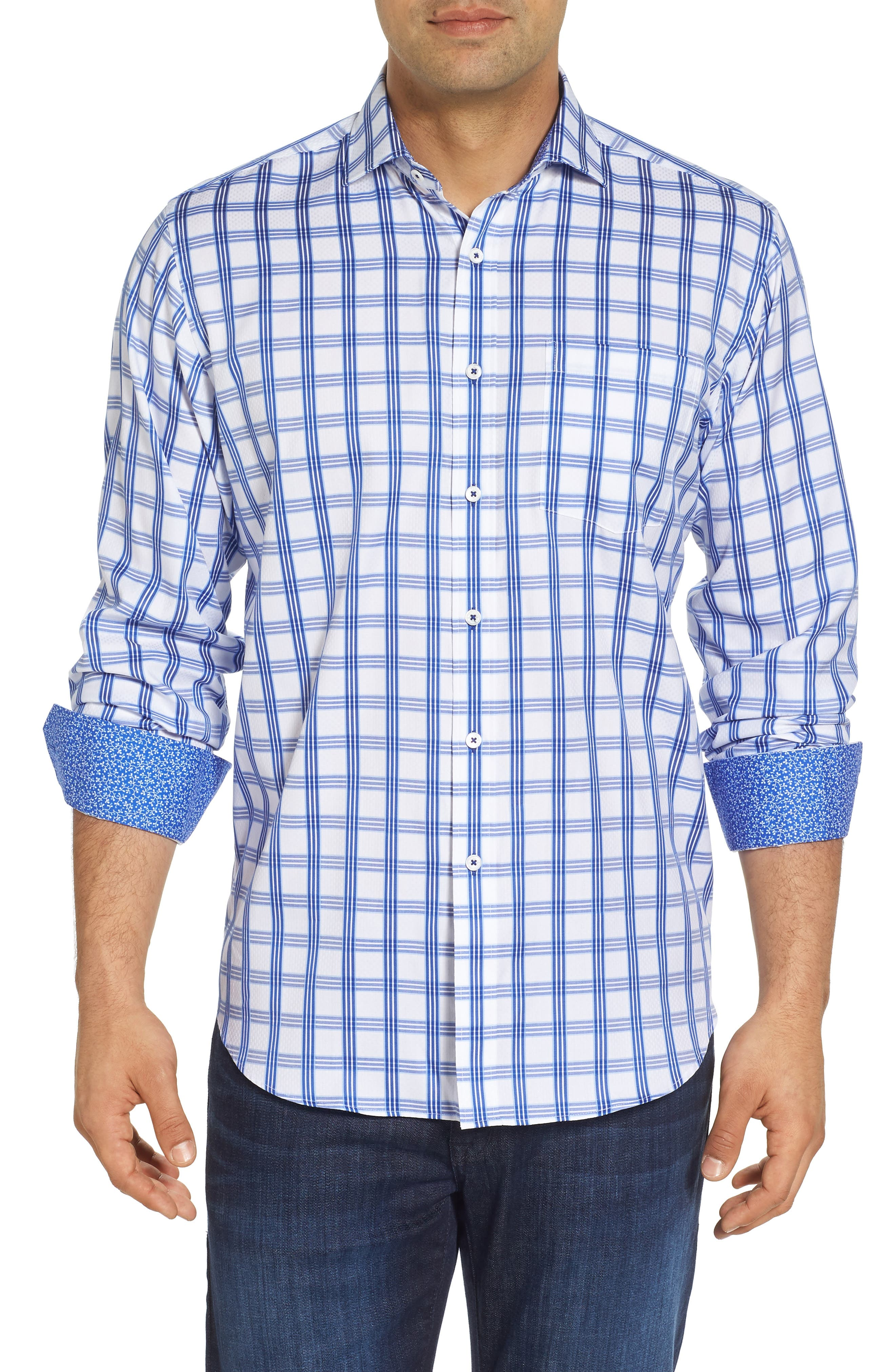 Classic Fit Sport Shirt,                         Main,                         color, CLASSIC BLUE