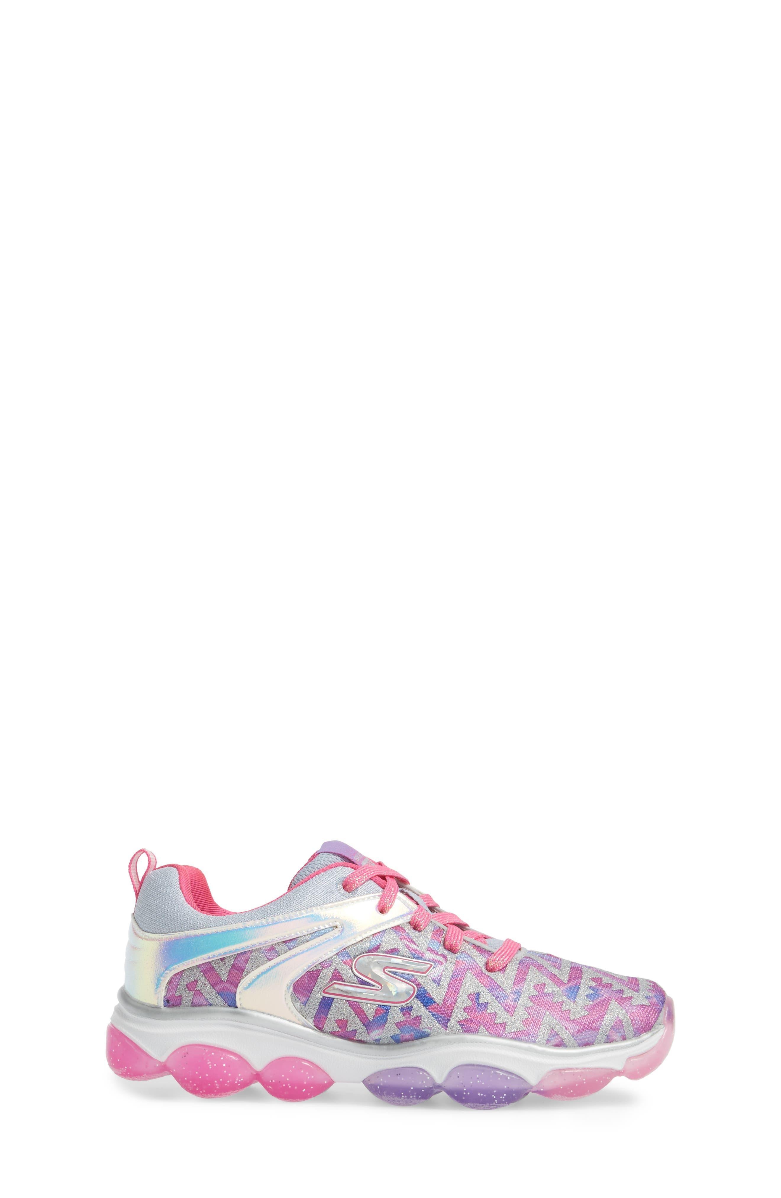 Skech Air Groove Glitter Sneaker,                             Alternate thumbnail 3, color,                             PINK/ MULTI