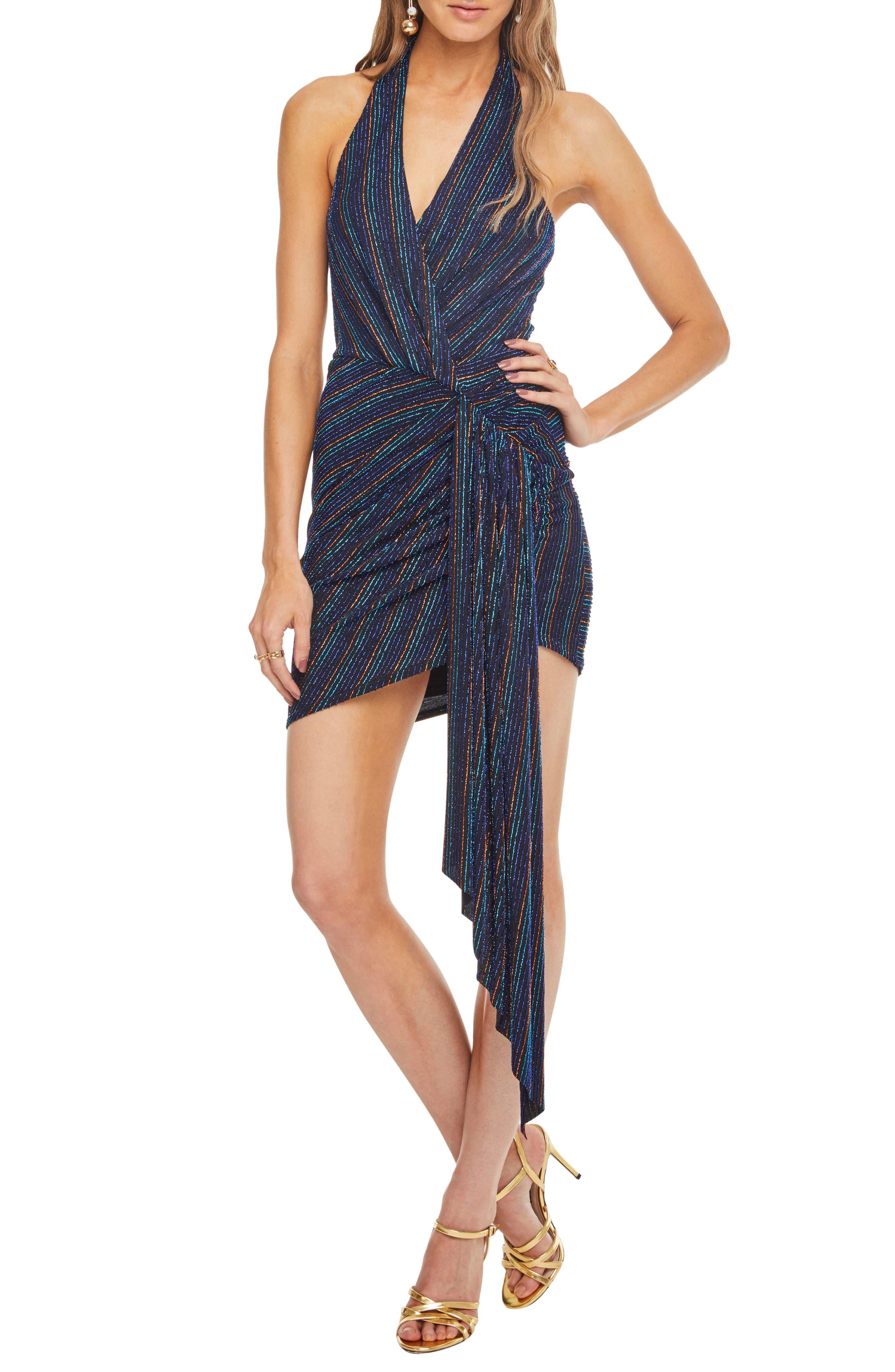 Nightcap Dress,                         Main,                         color, DISCO STRIPE