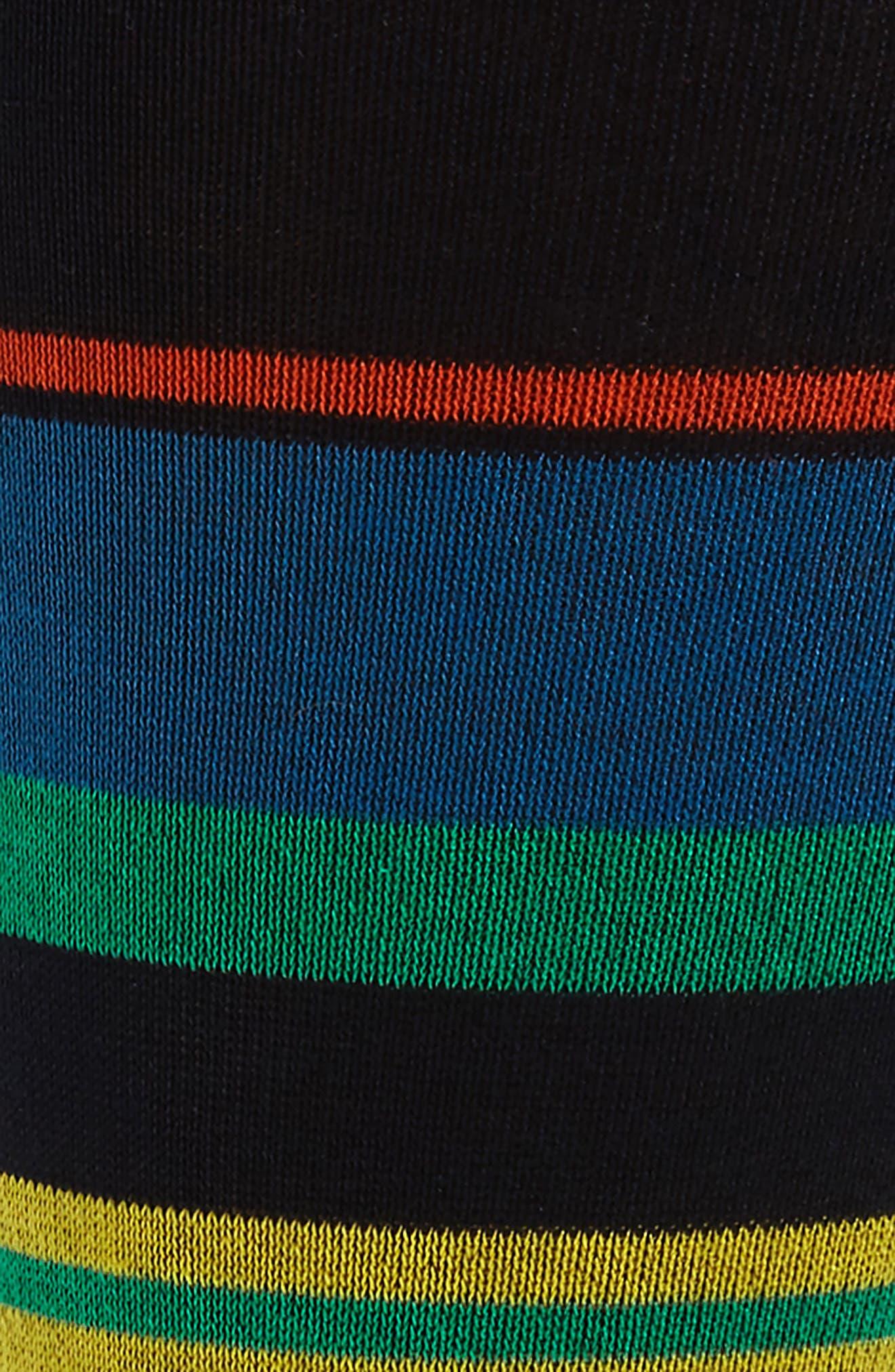 Stripe Mercerized Cotton Blend Socks,                             Alternate thumbnail 4, color,