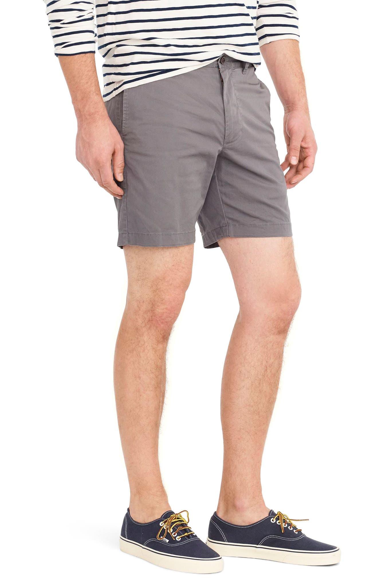 Stretch Cotton Shorts,                             Main thumbnail 1, color,