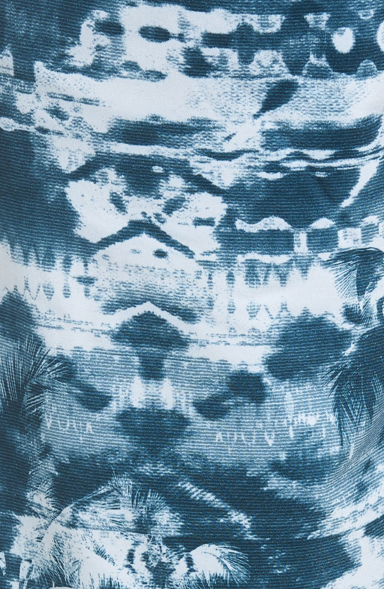 Hyperfreak Vietpalm Board Shorts,                             Alternate thumbnail 5, color,                             DARK BLUE