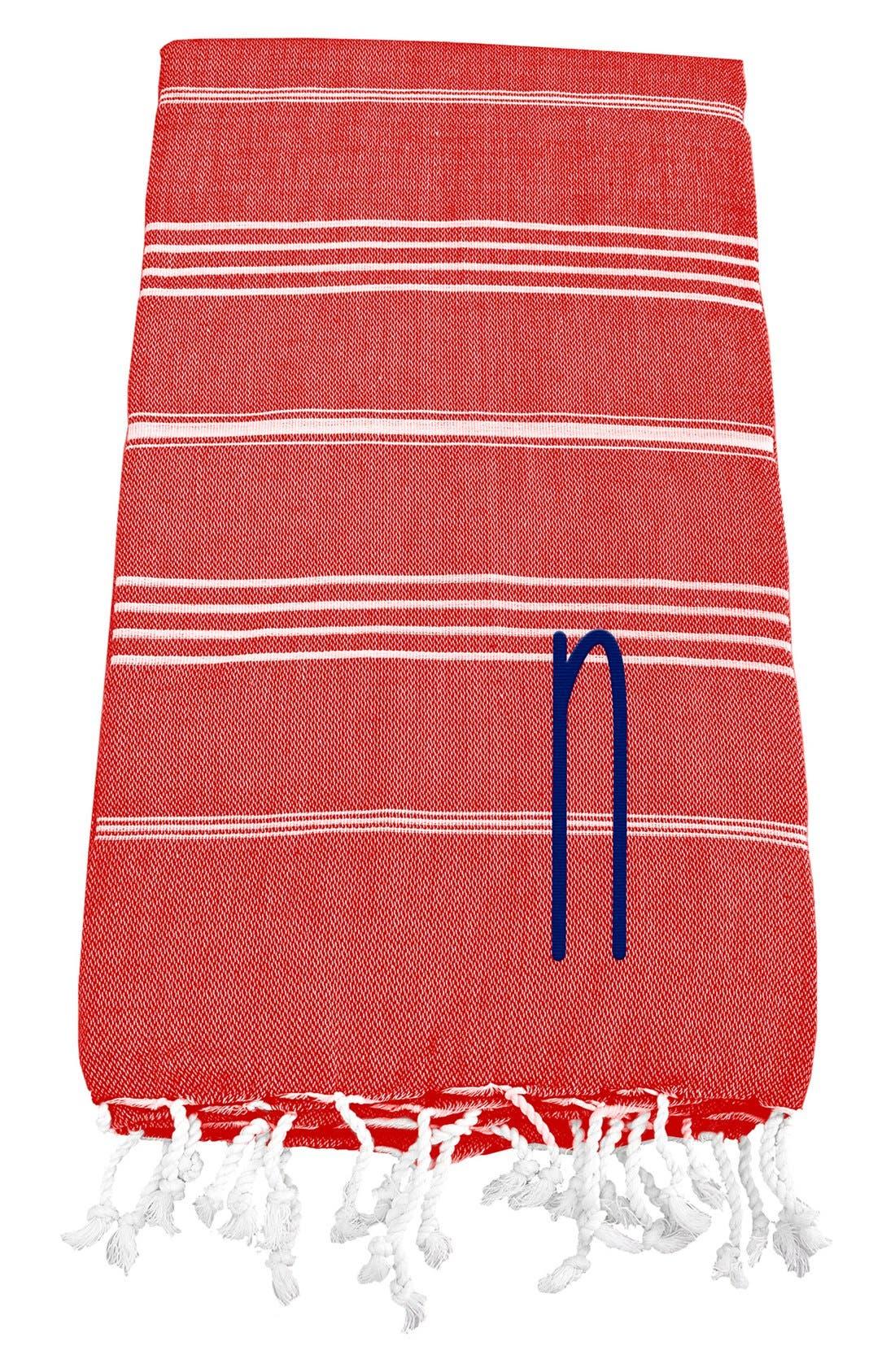 Monogram Turkish Cotton Towel,                             Main thumbnail 123, color,