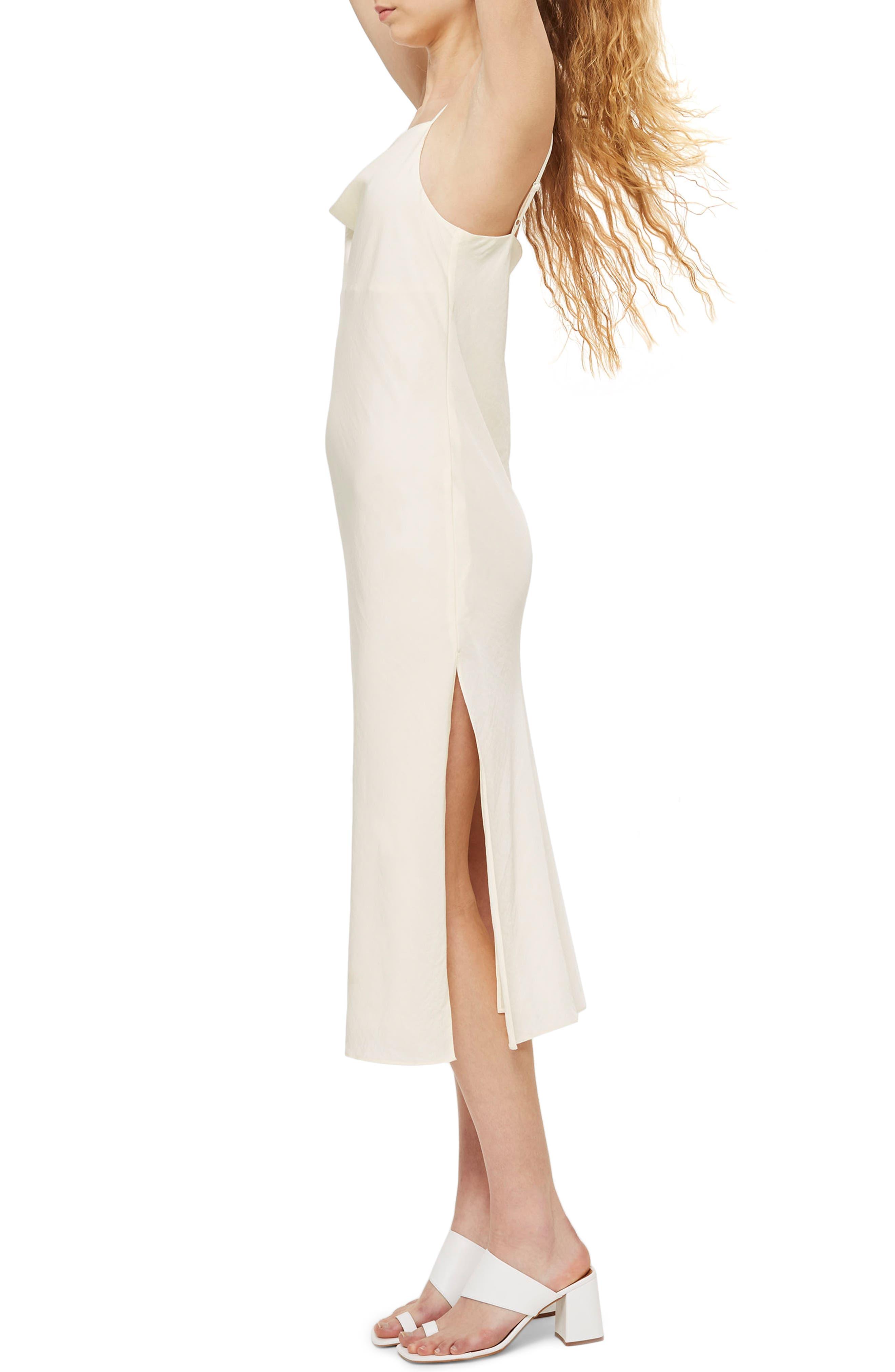 Cowl Neck Satin Midi Dress,                             Alternate thumbnail 9, color,