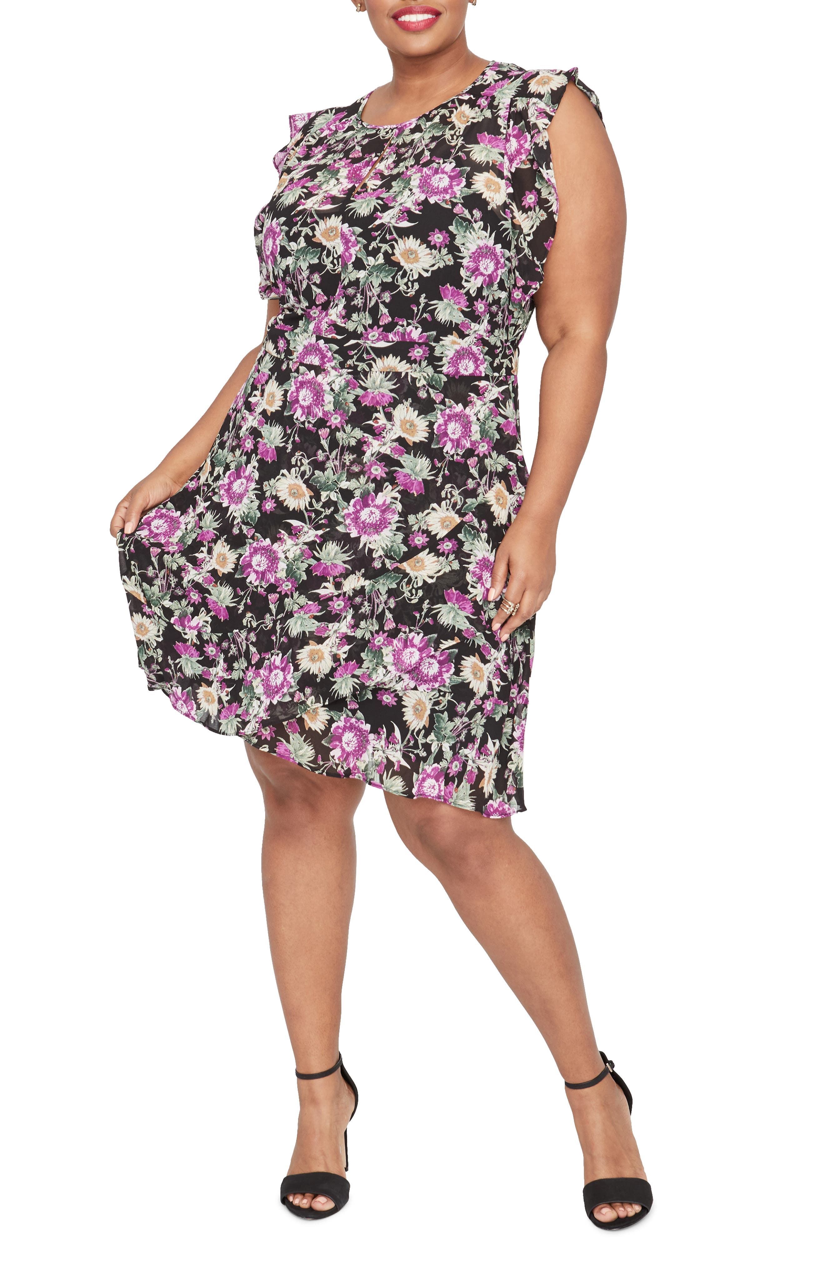 Plus Size Rachel Rachel Roy Lora Dress, Black