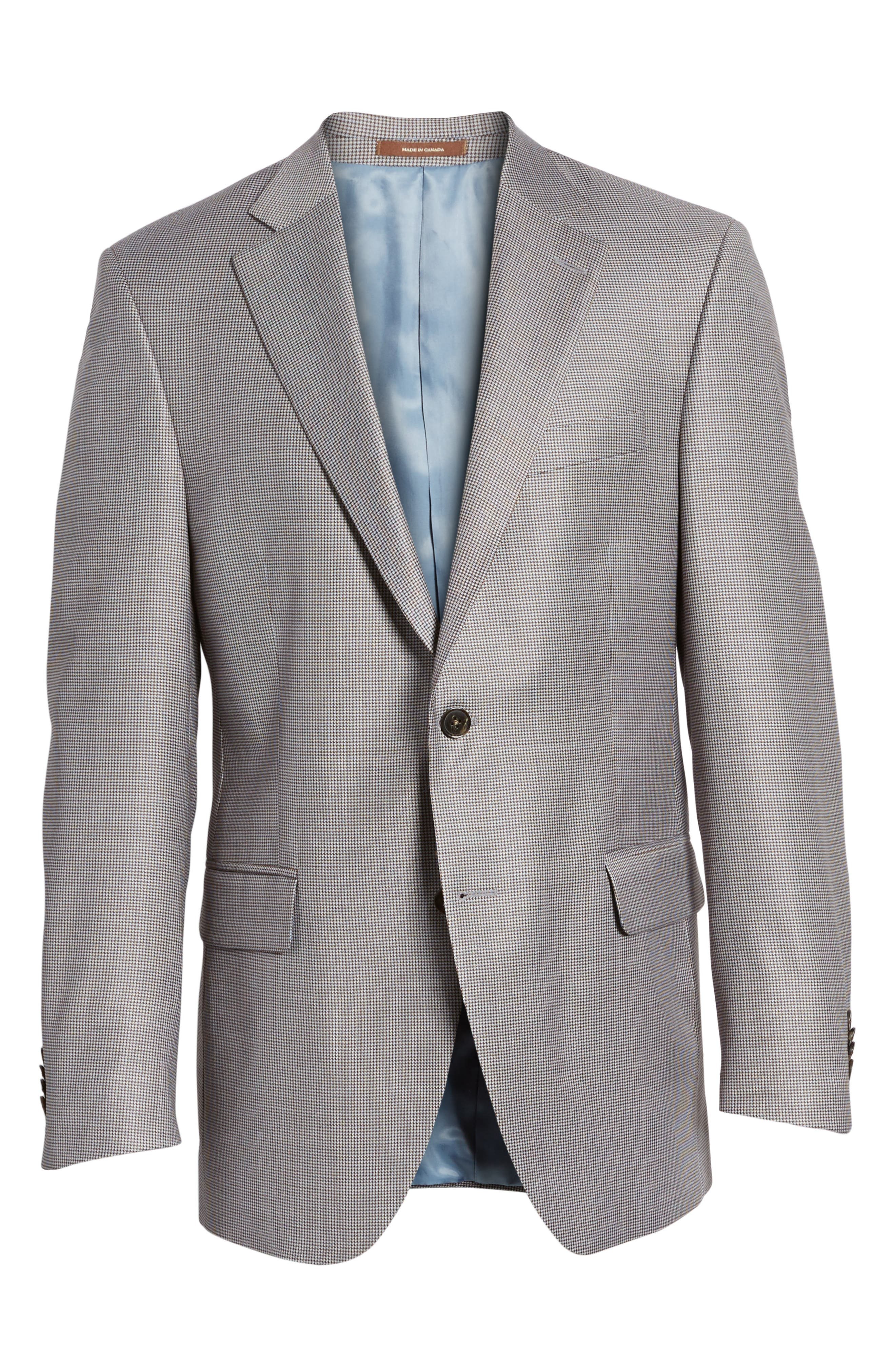 Classic Fit Houndstooth Wool Sport Coat,                             Alternate thumbnail 5, color,                             420