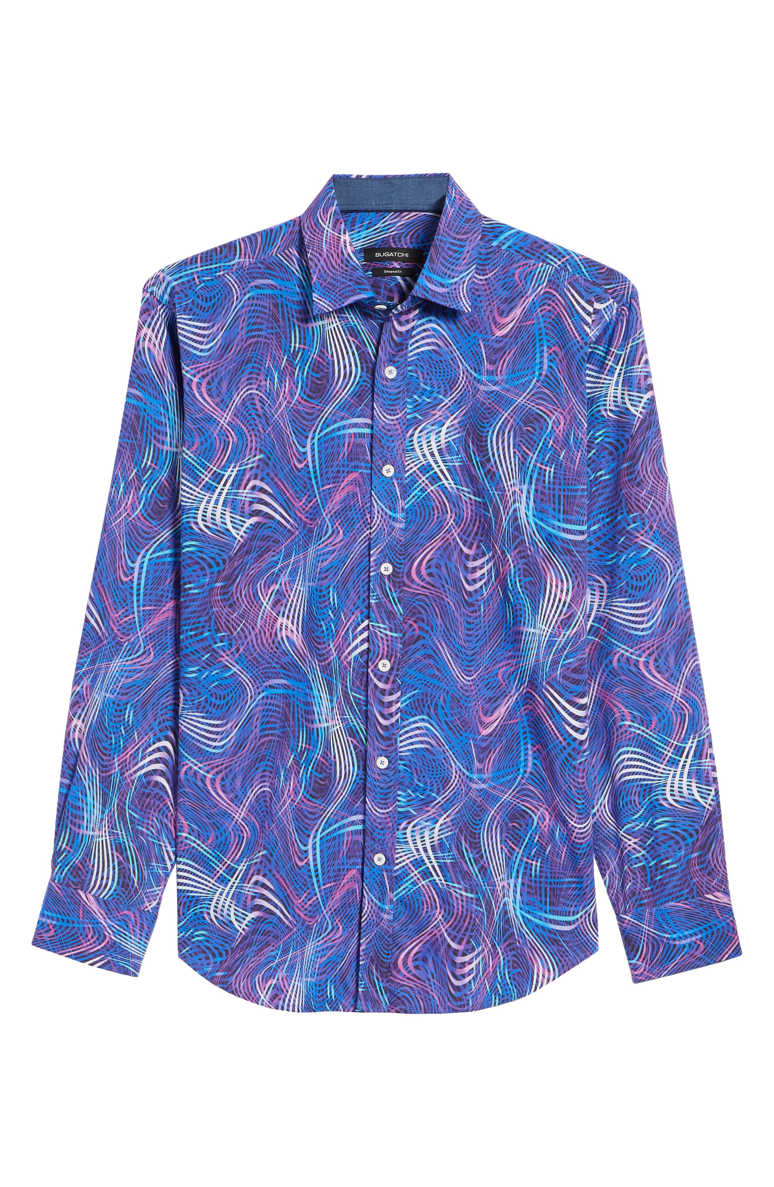 BUGATCHI,                             Woven Sport Shirt,                             Alternate thumbnail 6, color,                             504
