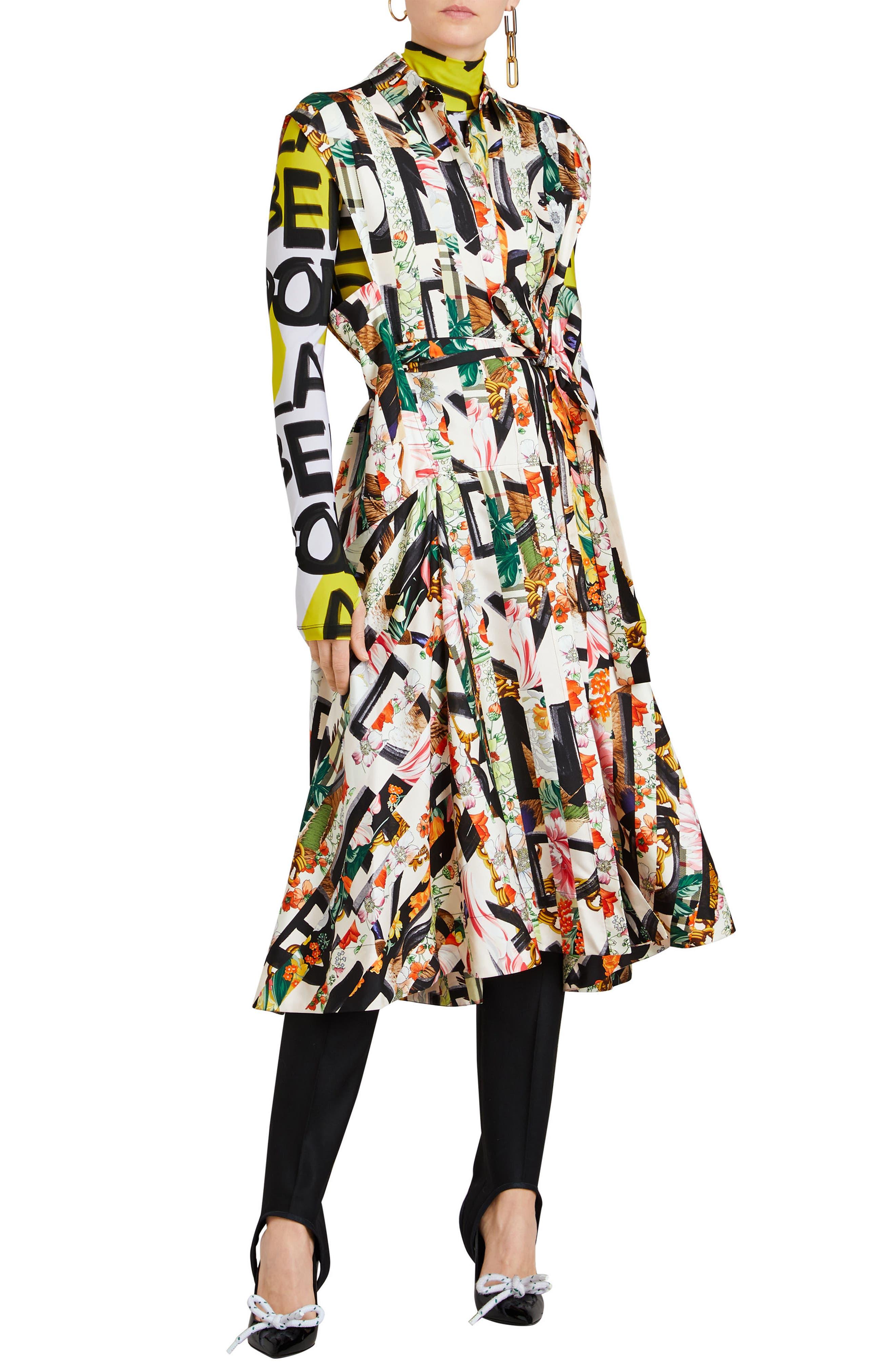 Sacha Silk Dress,                             Alternate thumbnail 9, color,                             MULTICOLOUR IP PTTN