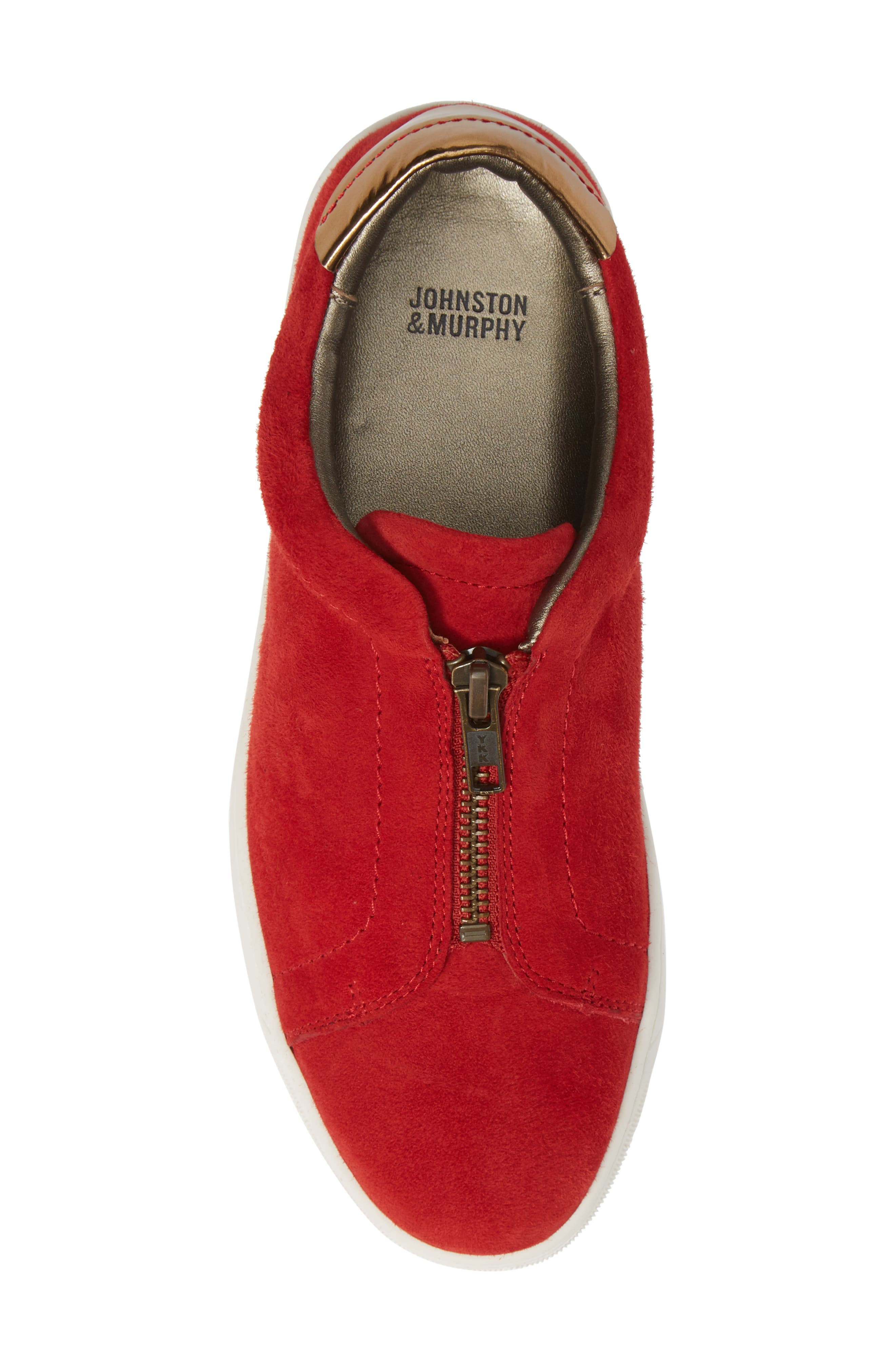 Emma Sneaker,                             Alternate thumbnail 5, color,                             RED SUEDE