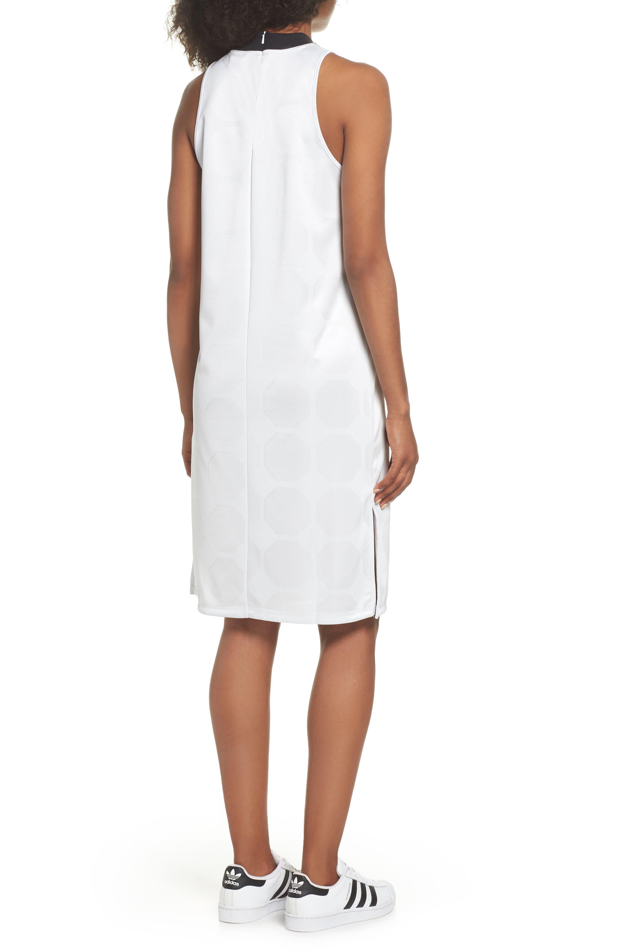 Fashion League Trefoil Jacquard Tank Dress,                             Alternate thumbnail 2, color,                             100
