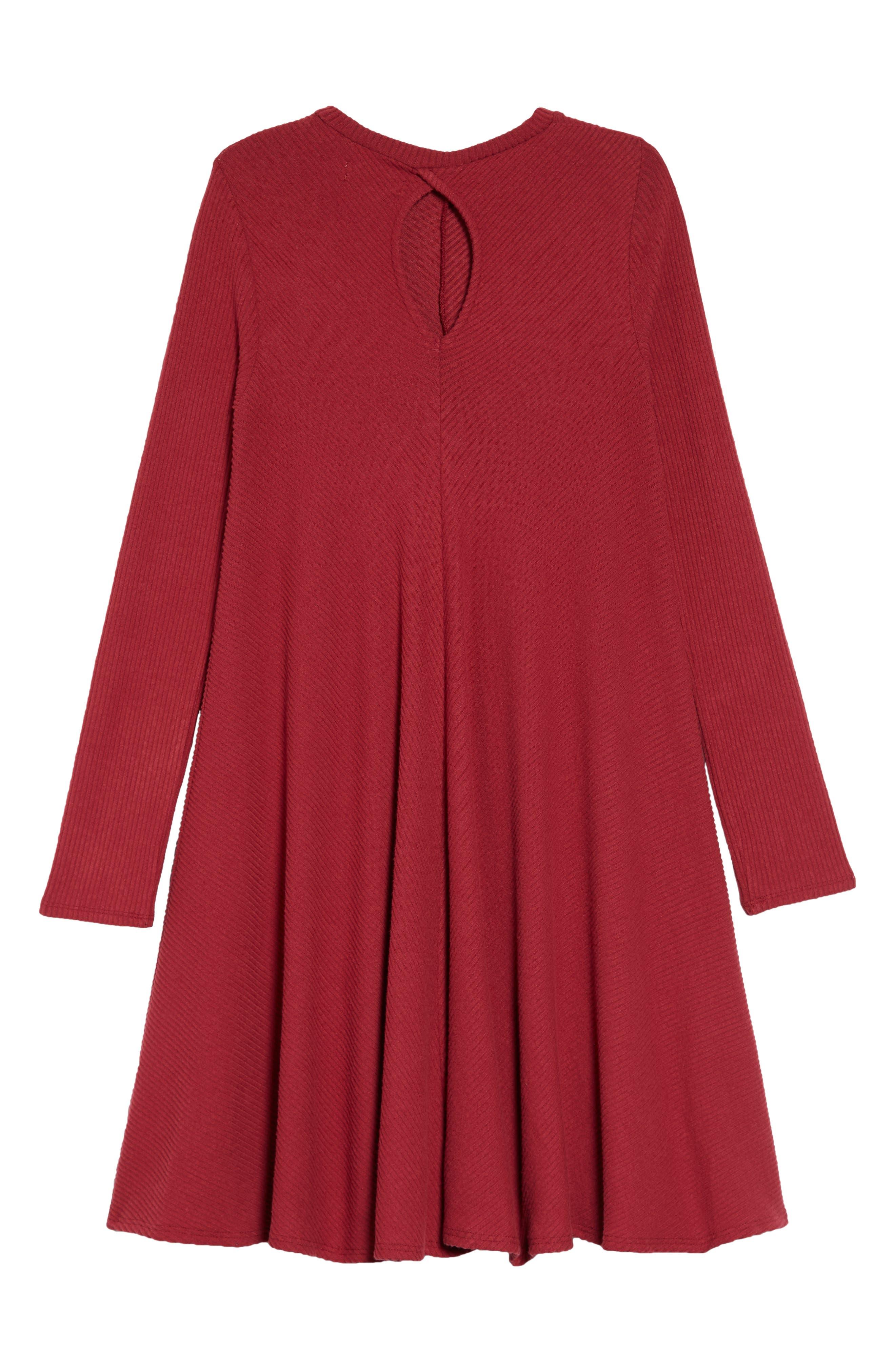 Tucker + Take Swing Dress,                             Alternate thumbnail 2, color,                             RED TIBETAN