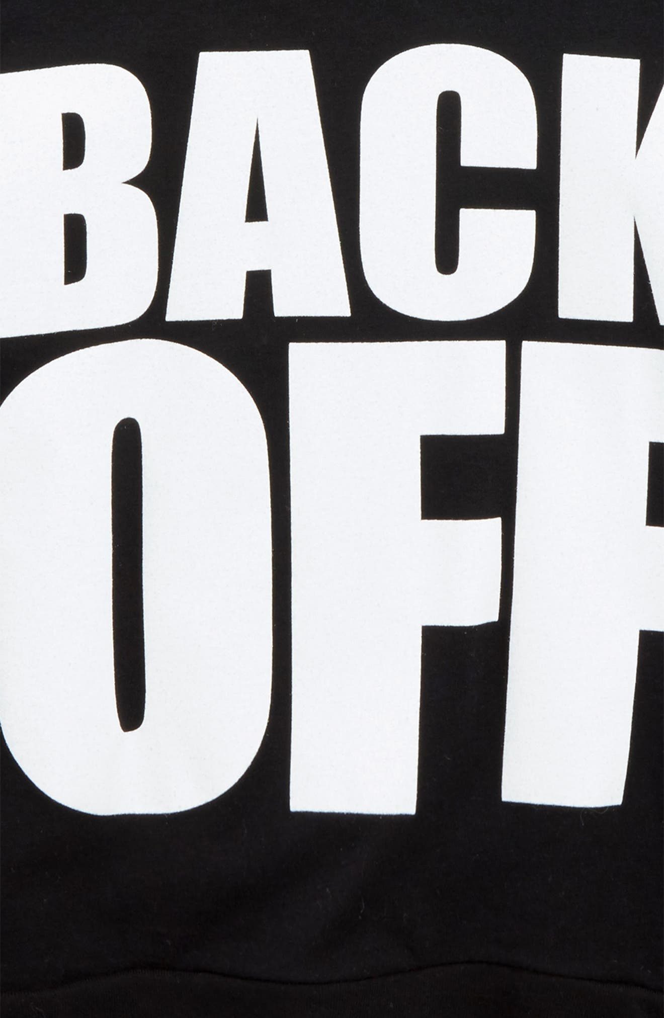 Back Off Graphic T-Shirt,                             Alternate thumbnail 2, color,                             001