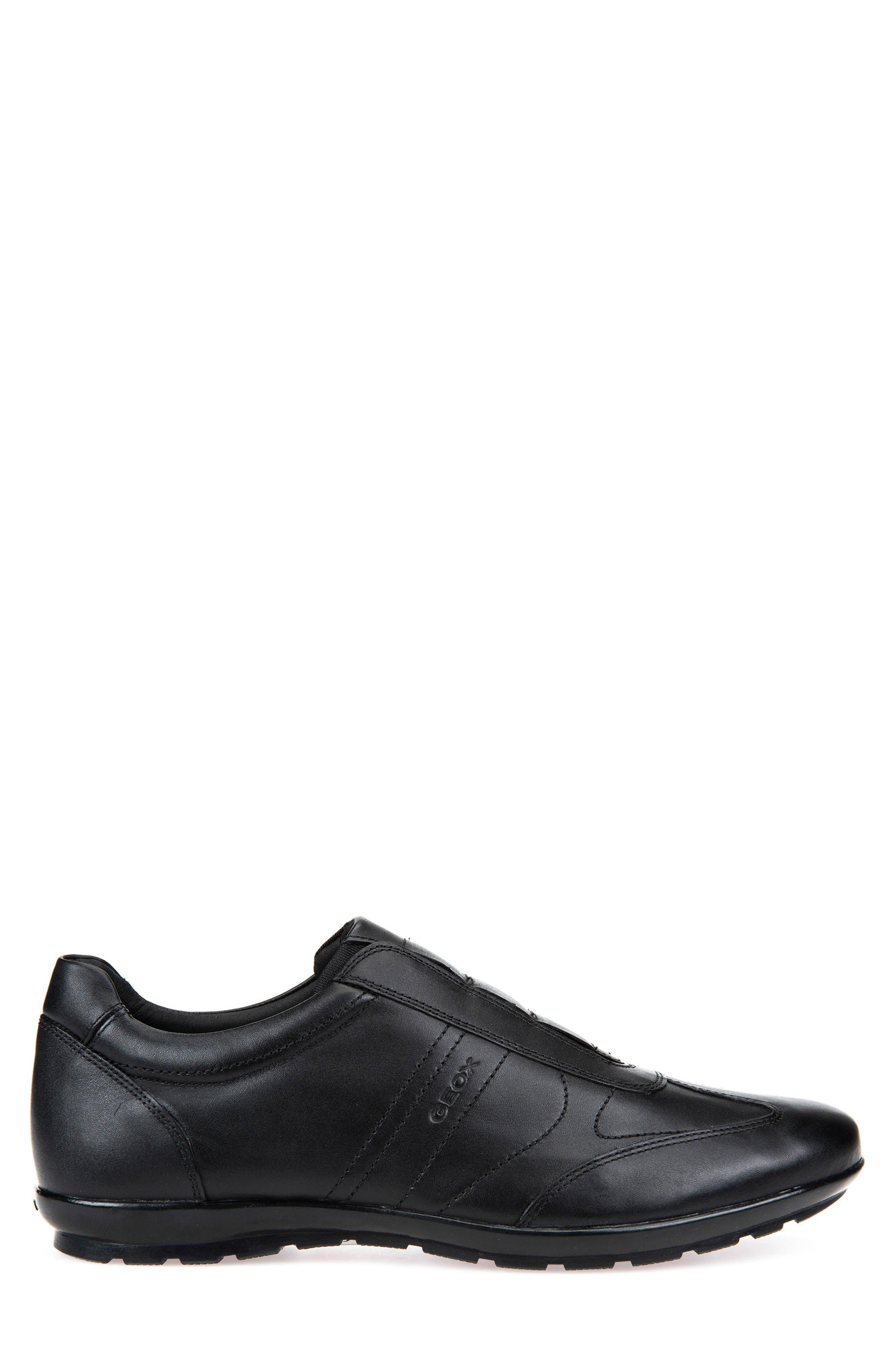 Symbol 21 Slip-On Sneaker,                             Alternate thumbnail 3, color,                             BLACK LEATHER