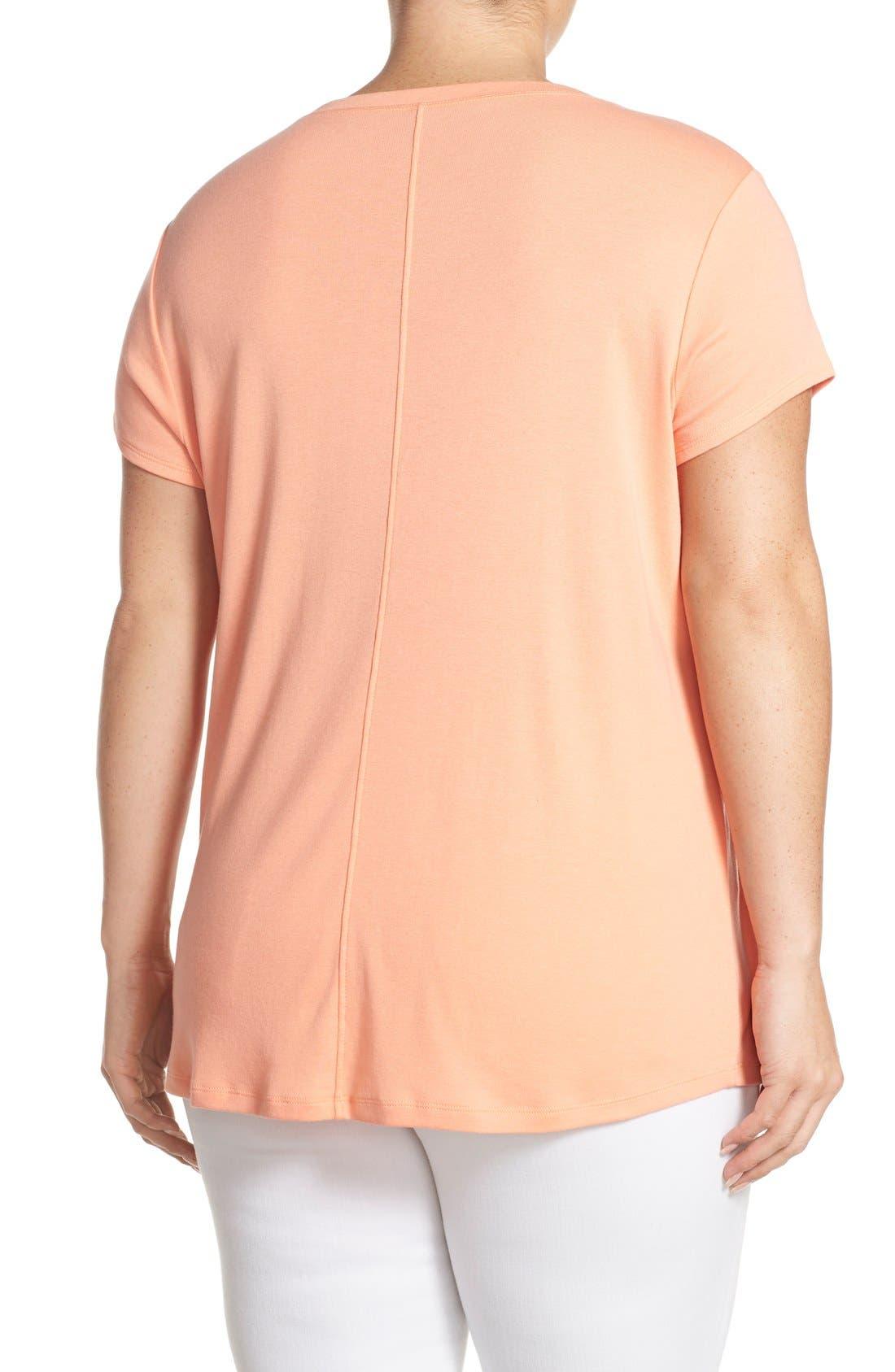 Short Sleeve V-Neck Tee,                             Alternate thumbnail 76, color,